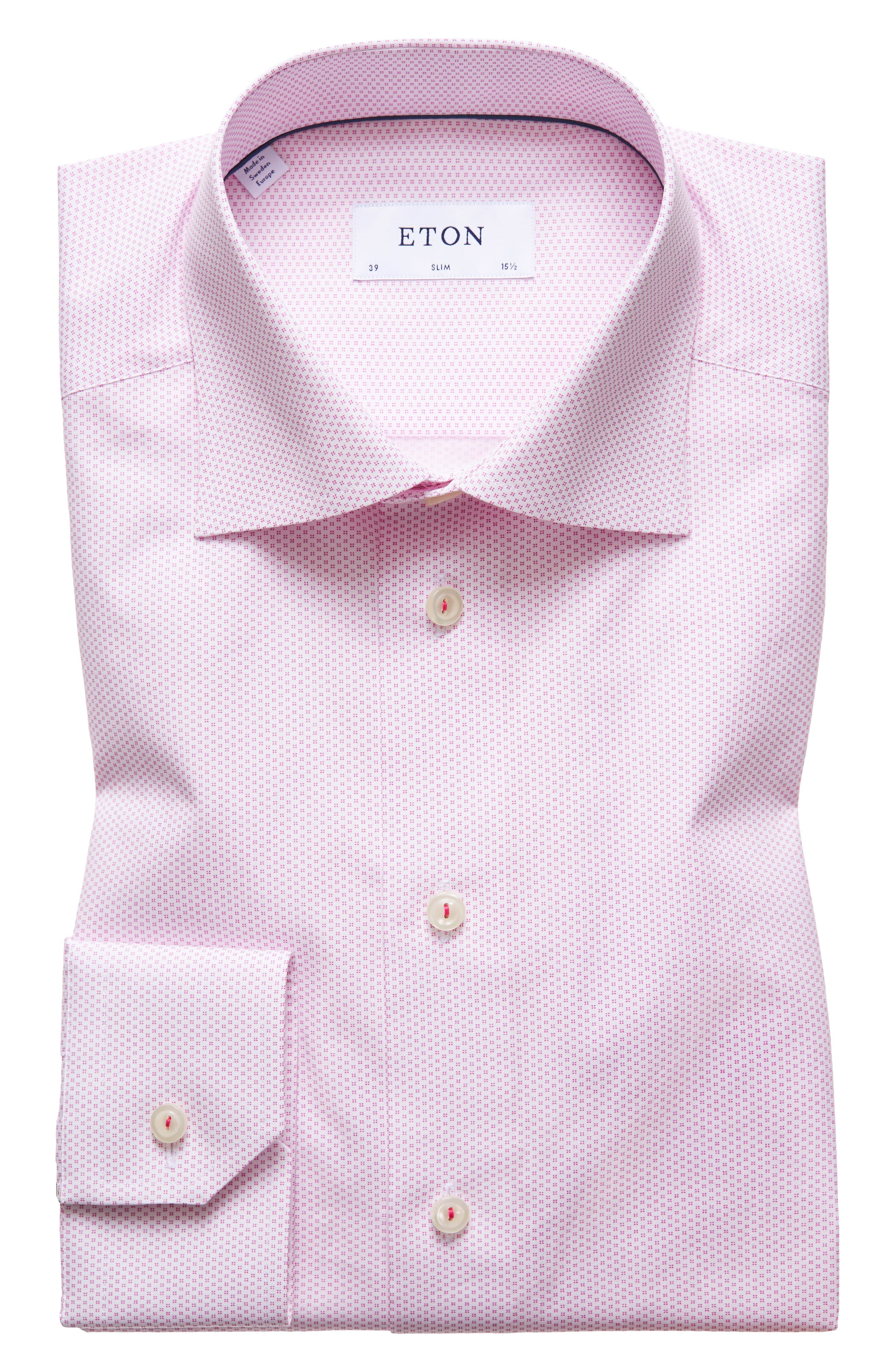 Slim Fit Print Dress Shirt,                             Main thumbnail 1, color,                             651