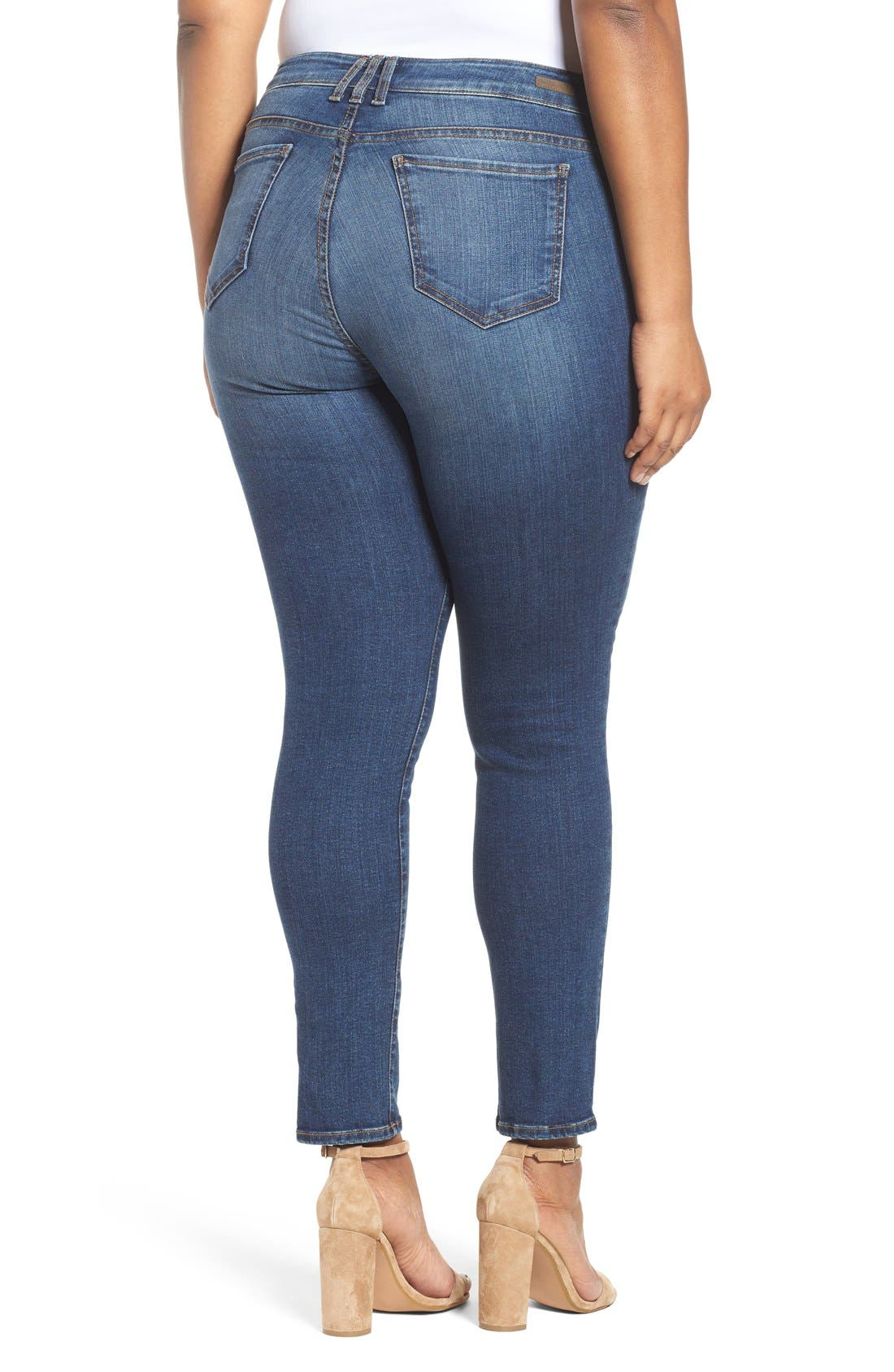 Mia Toothpick Stretch Skinny Jeans,                             Alternate thumbnail 4, color,                             REPOSE