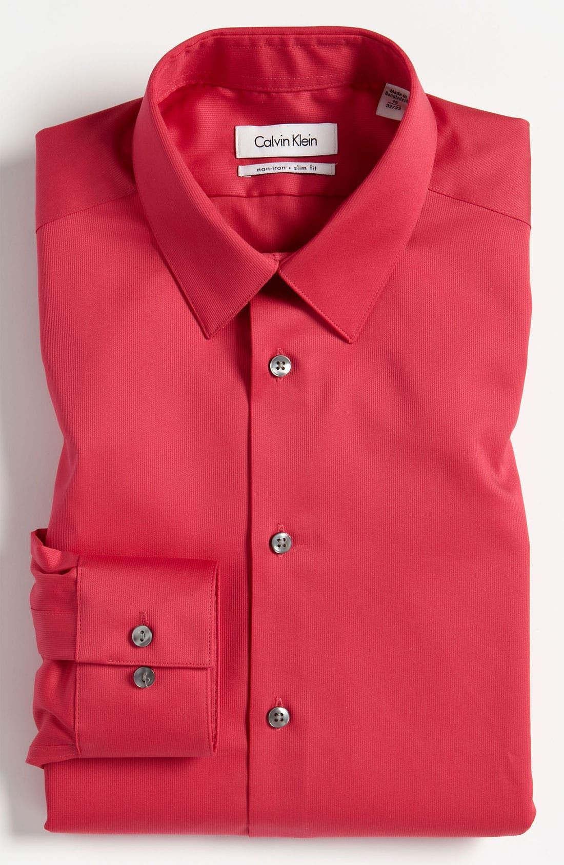 Slim Fit Non-Iron Dress Shirt,                             Main thumbnail 6, color,