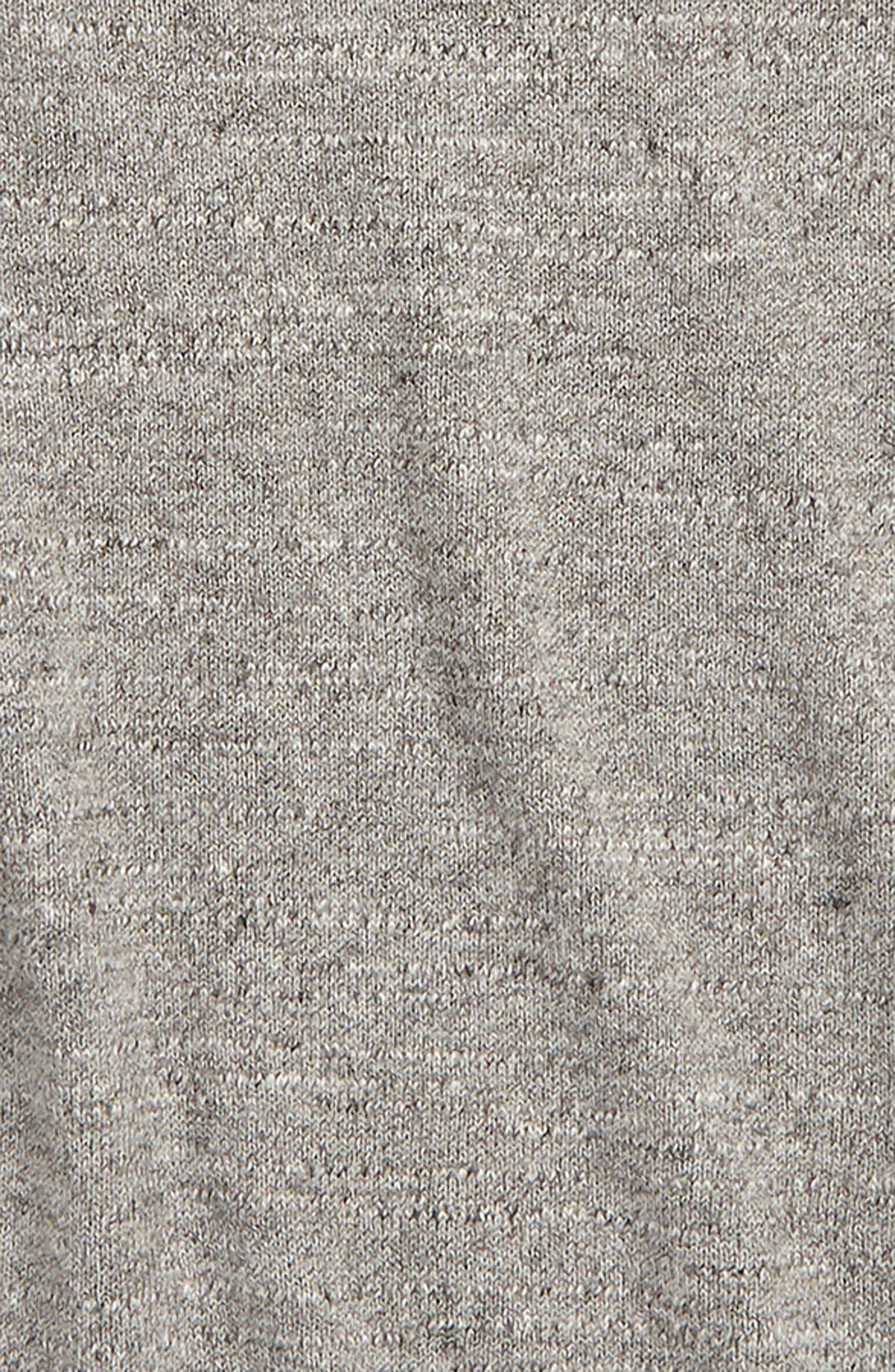 Cotton Crewneck Sweater,                             Alternate thumbnail 2, color,                             HEATHER GREY INDIGO
