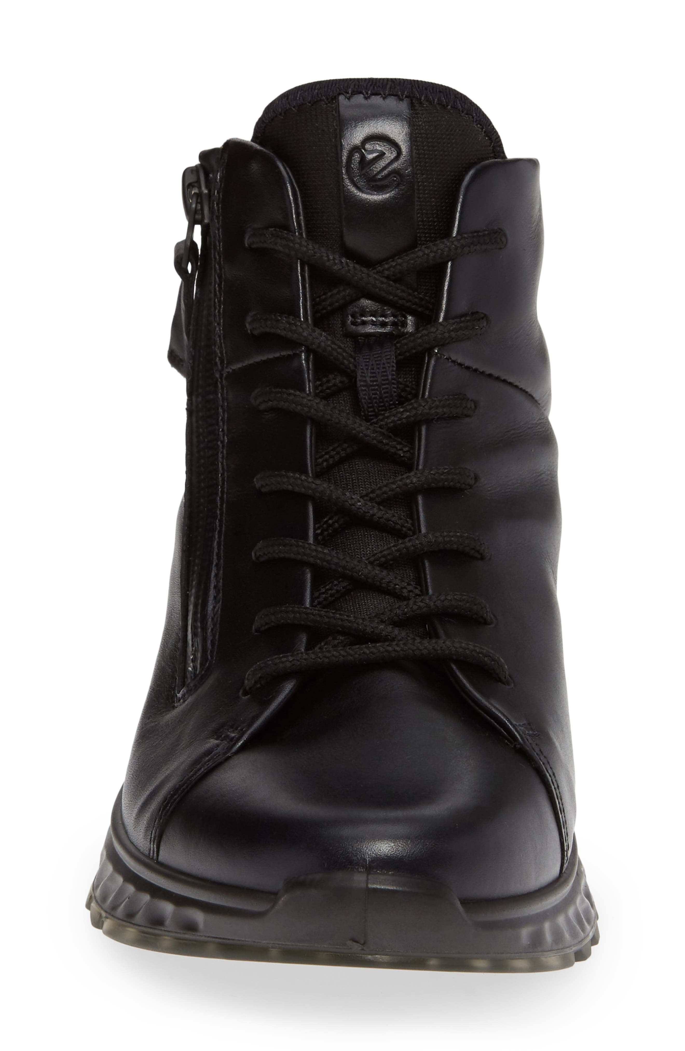 ST1 High Top Sneaker,                             Alternate thumbnail 4, color,                             BLACK LEATHER