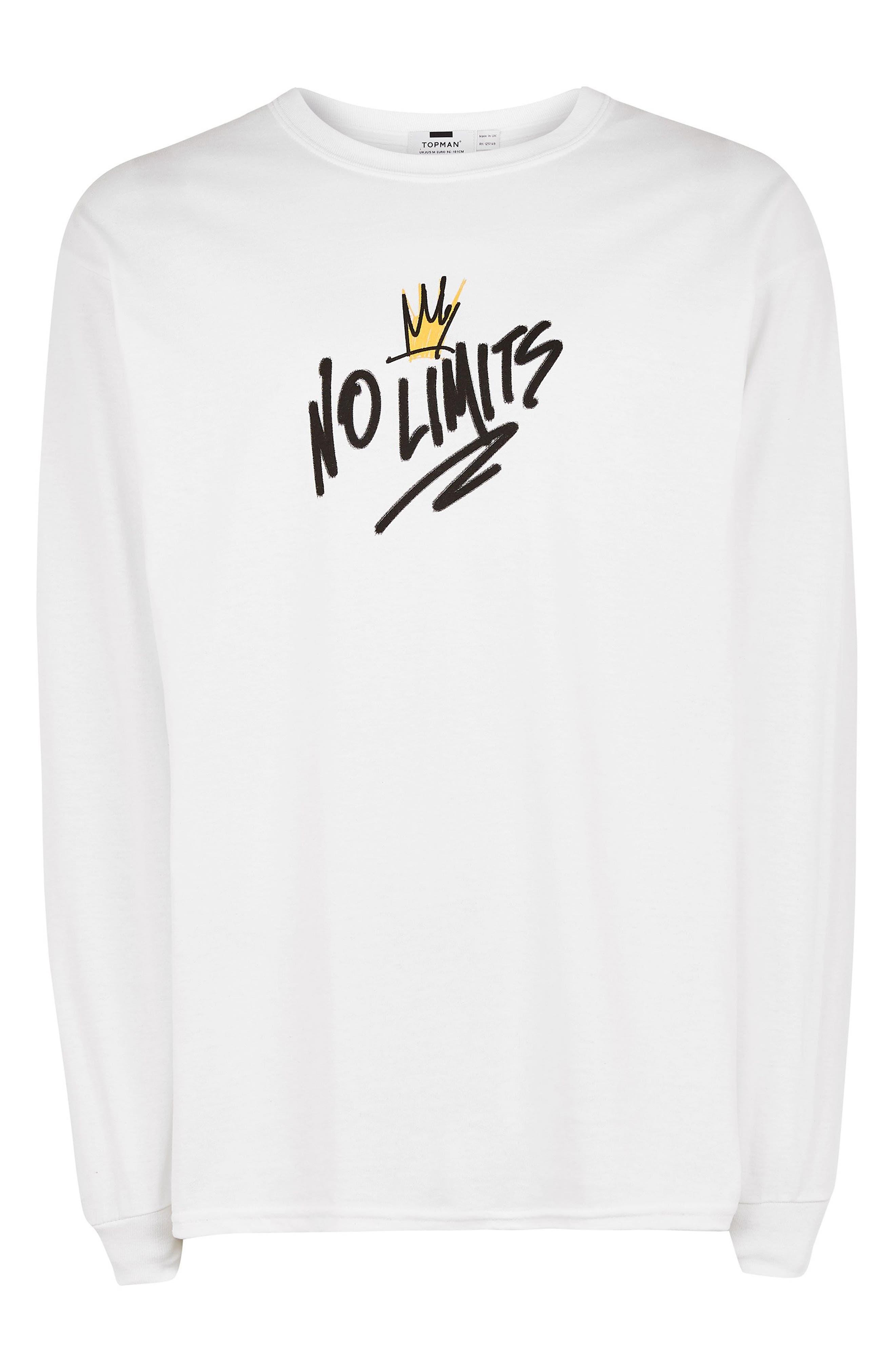 No Limits Graphic T-Shirt,                             Alternate thumbnail 3, color,                             WHITE MULTI