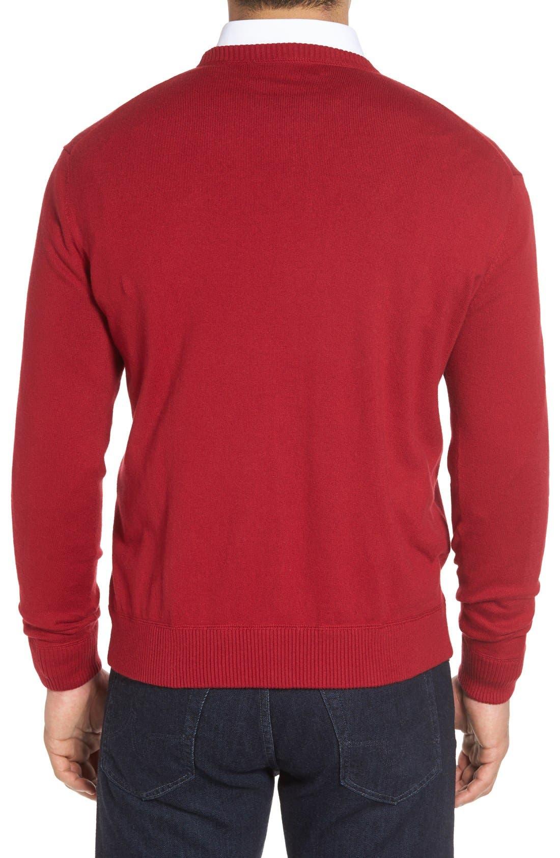 'Jersey Sport' Cotton Blend Crewneck Sweater,                             Alternate thumbnail 16, color,