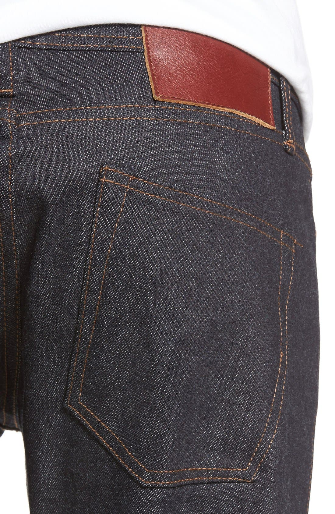 UB422 Selvedge Skinny Fit Jeans,                             Alternate thumbnail 4, color,                             401