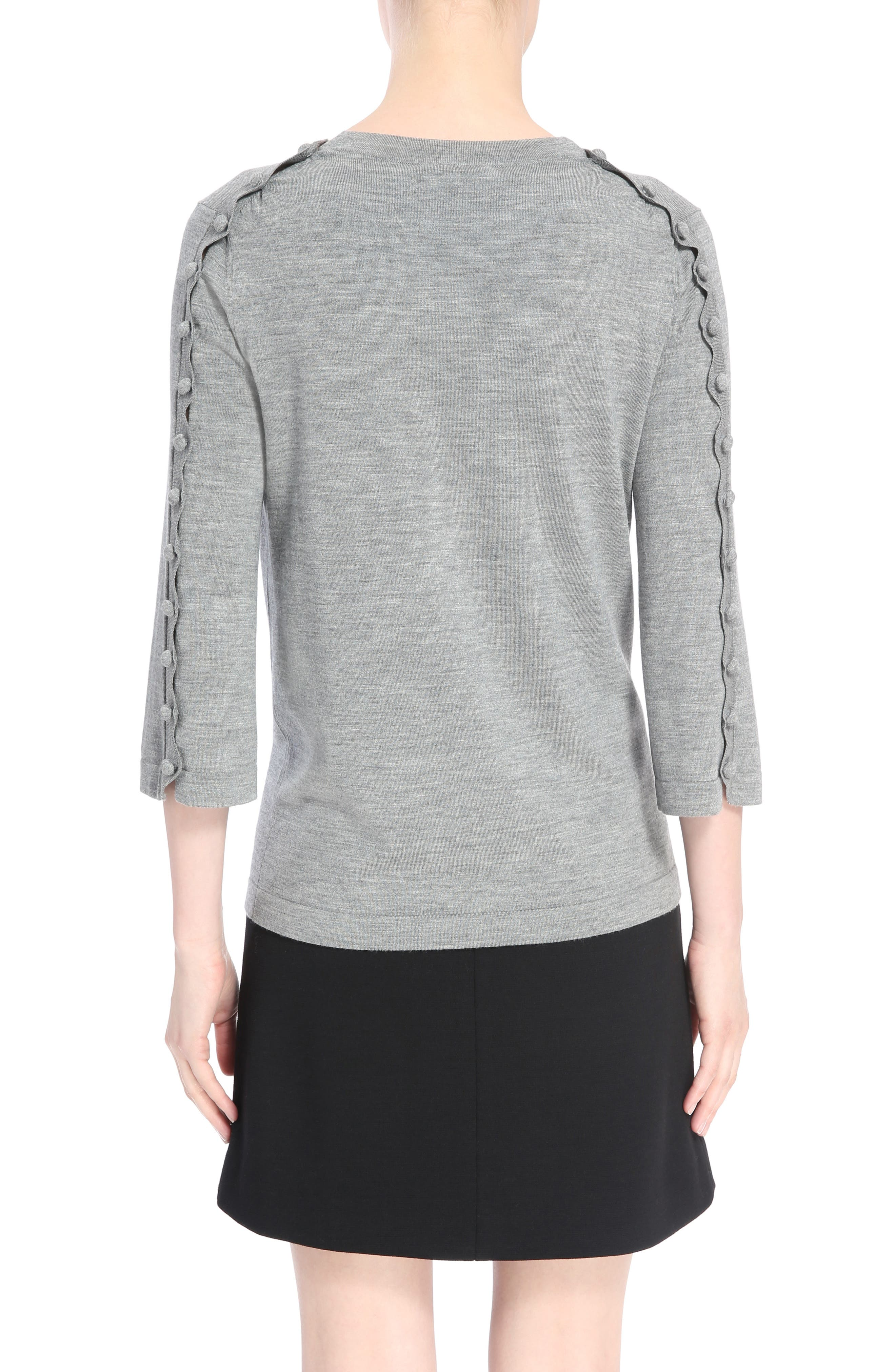 Button Shoulder Wool Sweater,                             Alternate thumbnail 2, color,                             030