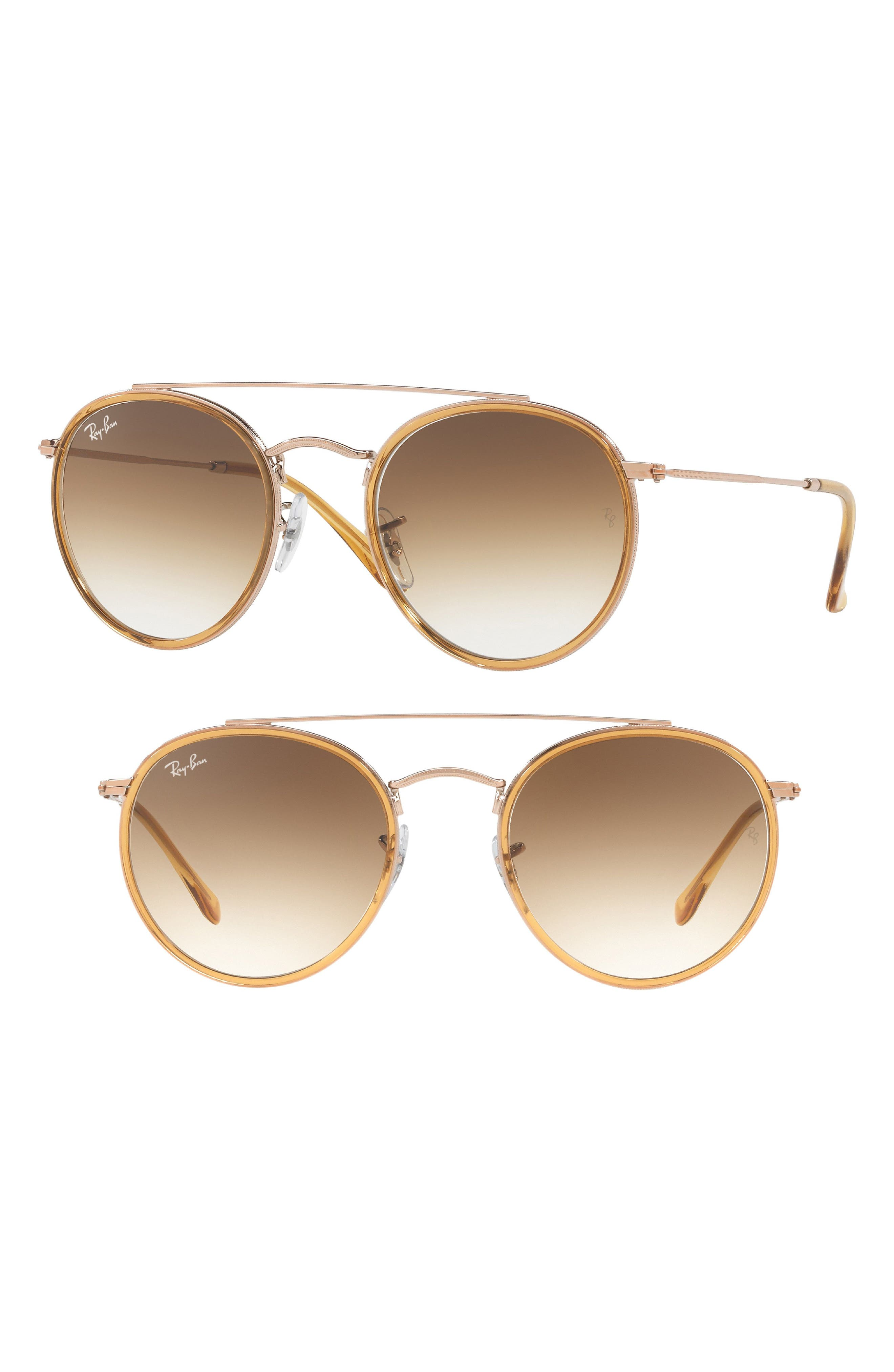 51mm Aviator Gradient Lens Sunglasses,                         Main,                         color, 219
