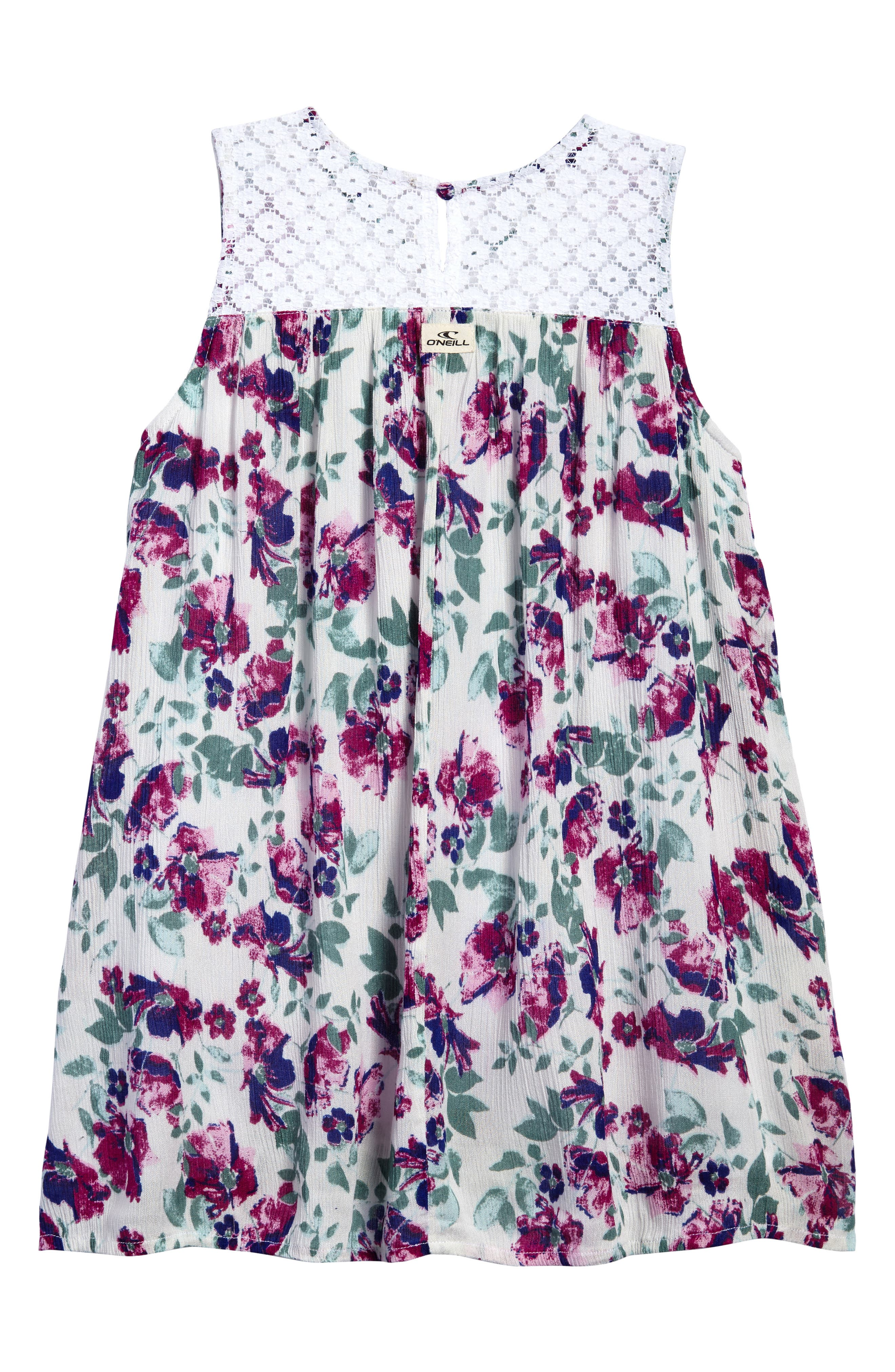 Lia Floral Woven Dress,                             Alternate thumbnail 2, color,                             100
