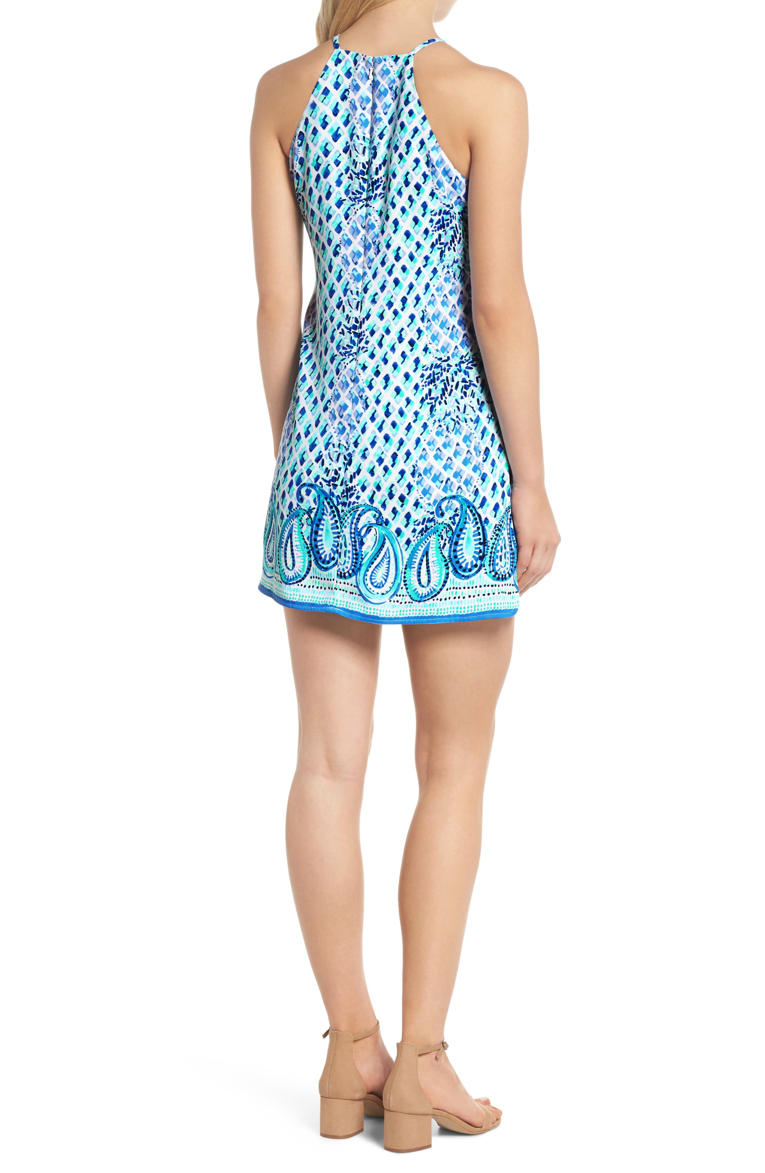 LILLY PULITZER<SUP>®</SUP>,                             Pearl Romper Dress,                             Alternate thumbnail 2, color,                             400