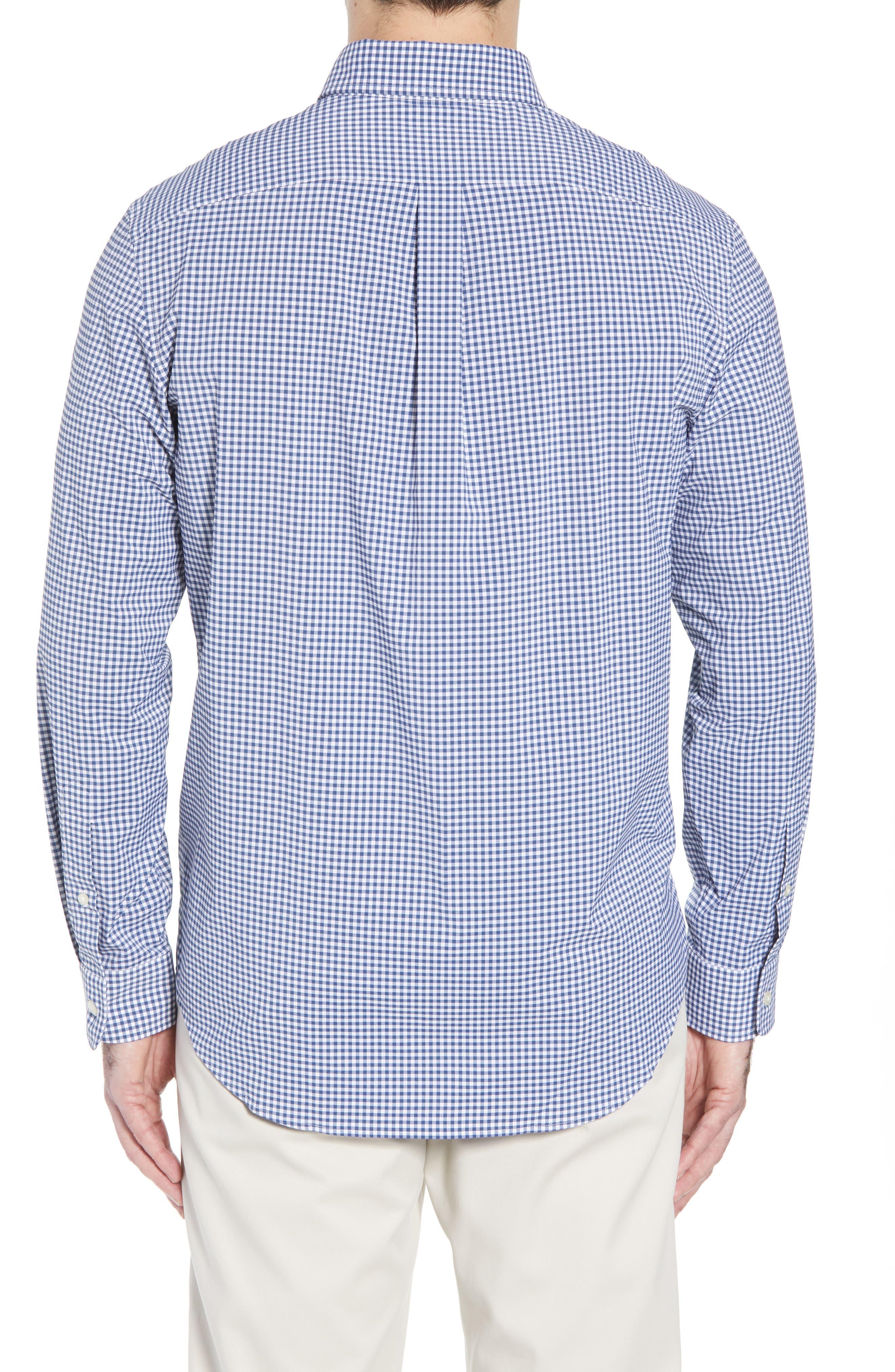 Grand Cay Tucker Regular Fit Gingham Performance Sport Shirt,                             Alternate thumbnail 2, color,                             MOONSHINE