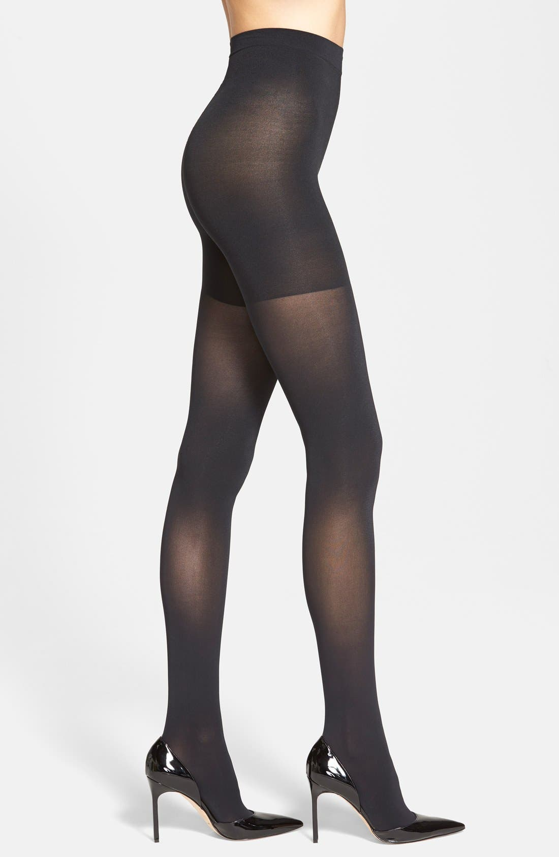 'Luxe' Leg Shaping Tights,                             Main thumbnail 1, color,                             VERY BLACK