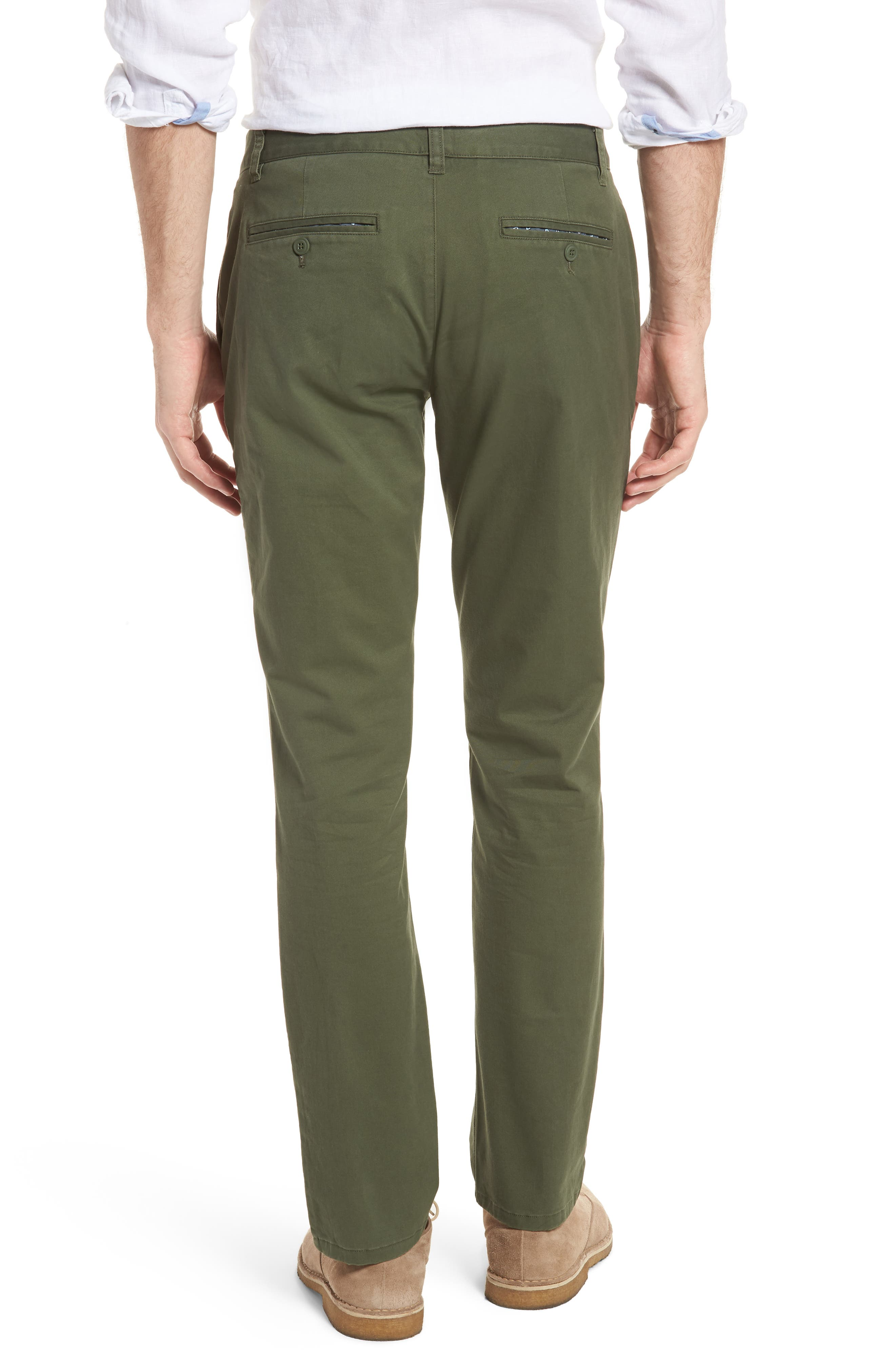 Tailored Fit Washed Stretch Cotton Chinos,                             Alternate thumbnail 43, color,