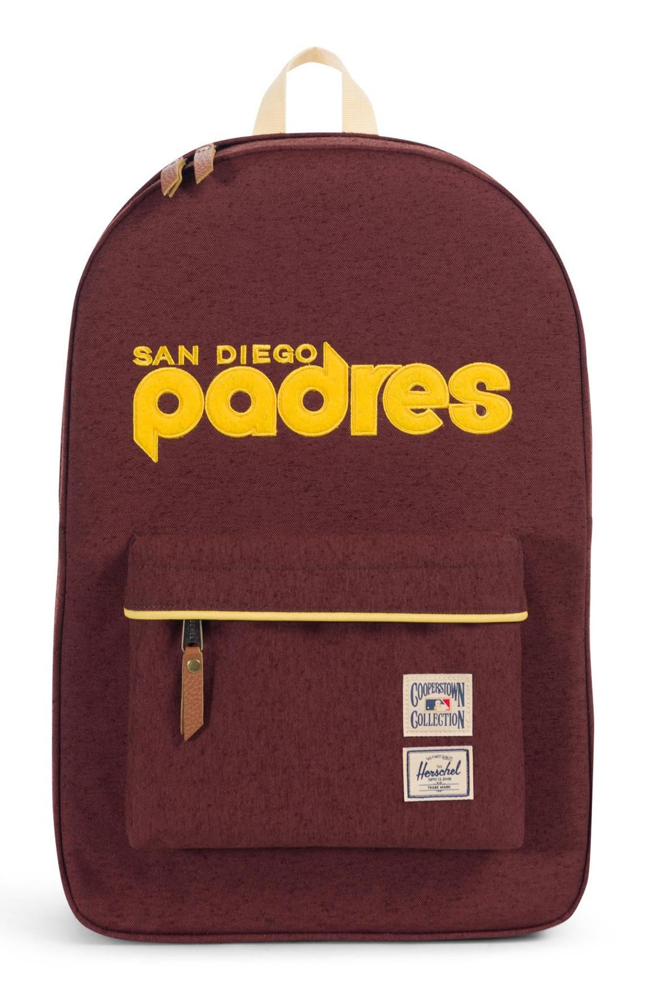 Heritage - MLB Cooperstown Collection Backpack,                             Main thumbnail 1, color,                             SAN DIEGO PADRES