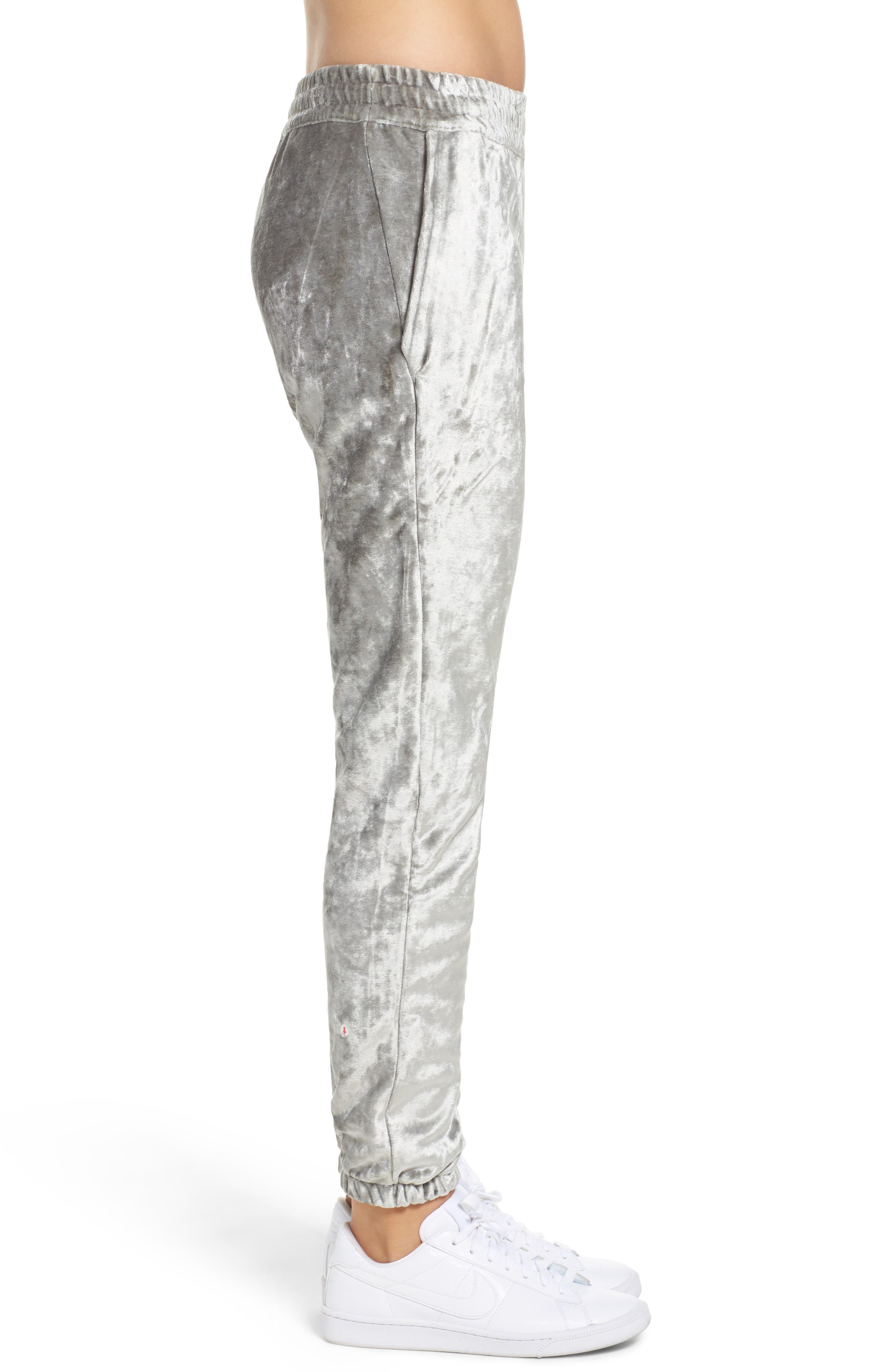 NIKE,                             NikeLab Essentials Women's Velour Pants,                             Alternate thumbnail 3, color,                             020