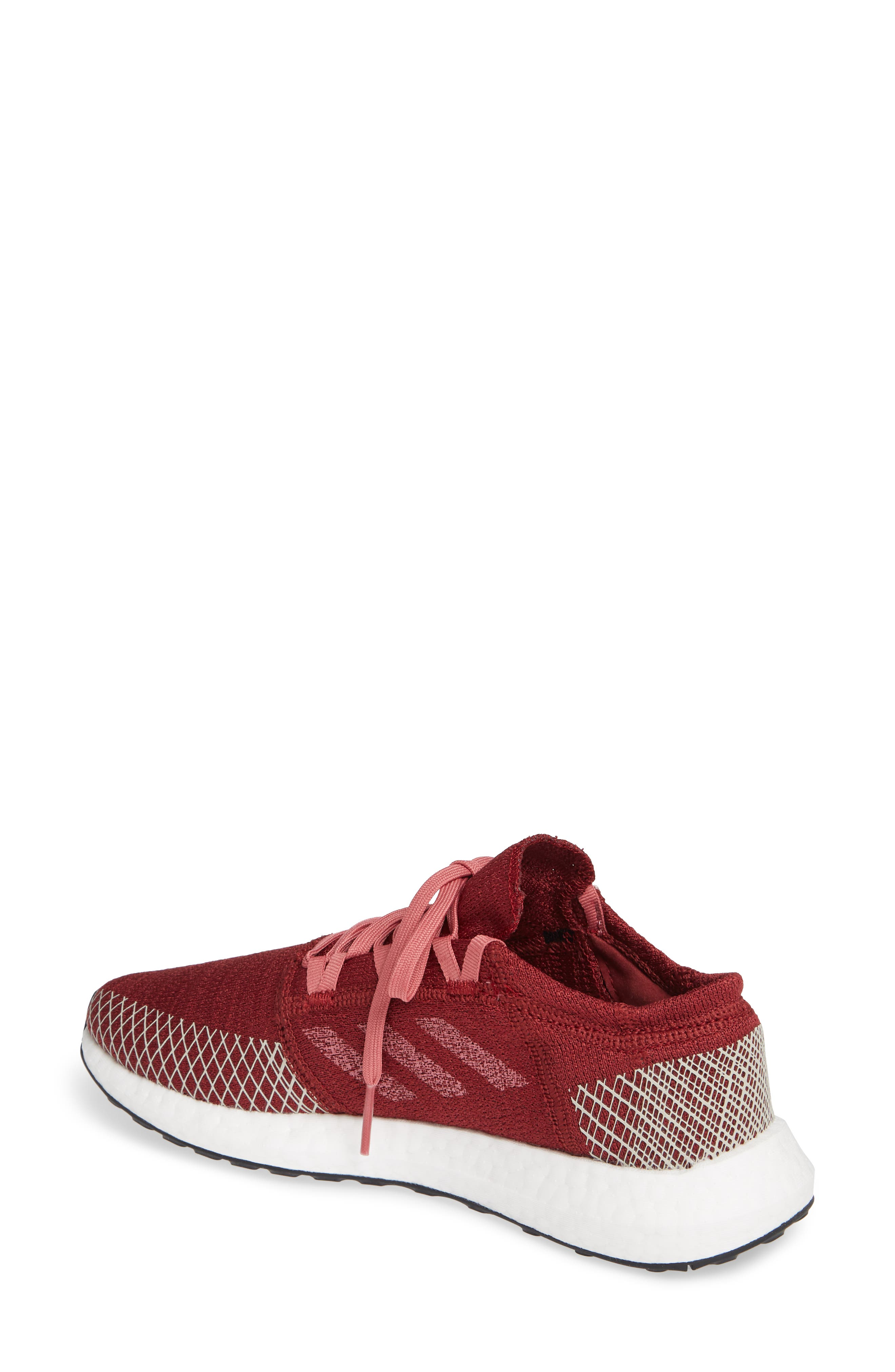 PureBoost X Element Knit Running Shoe,                             Alternate thumbnail 2, color,                             NOBLE MAROON/ MAROON/ BROWN