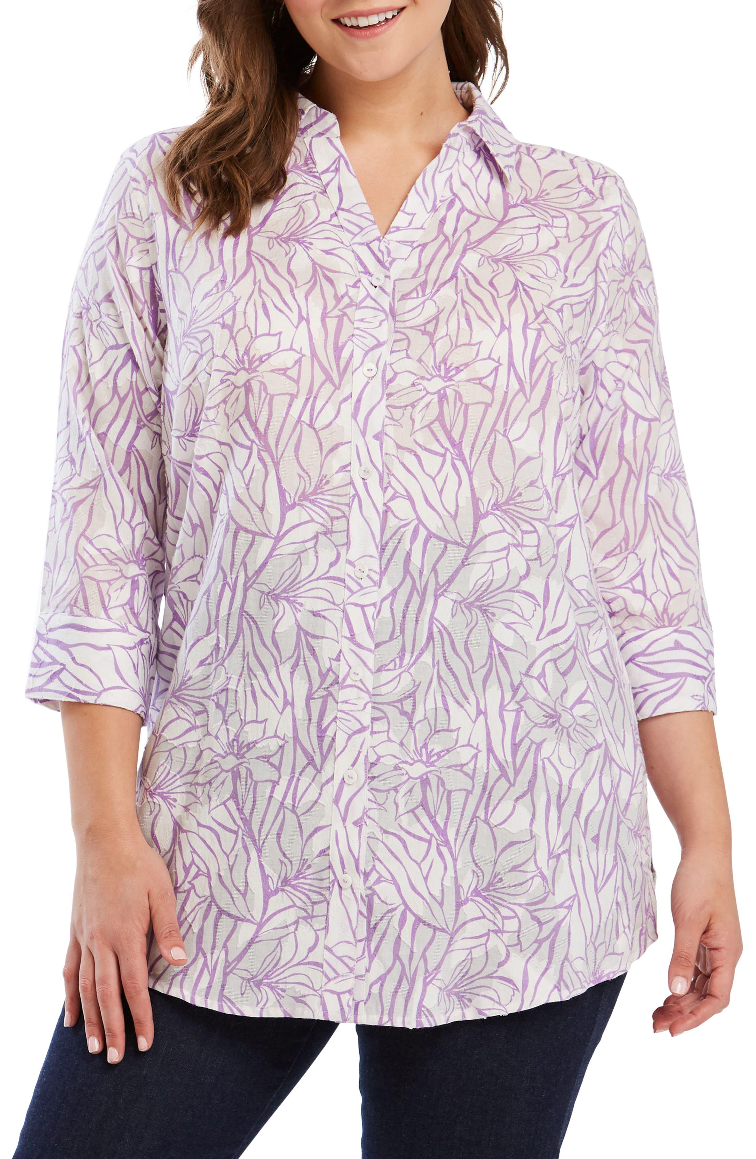 Faith Floral Jacquard Shirt,                         Main,                         color, 530