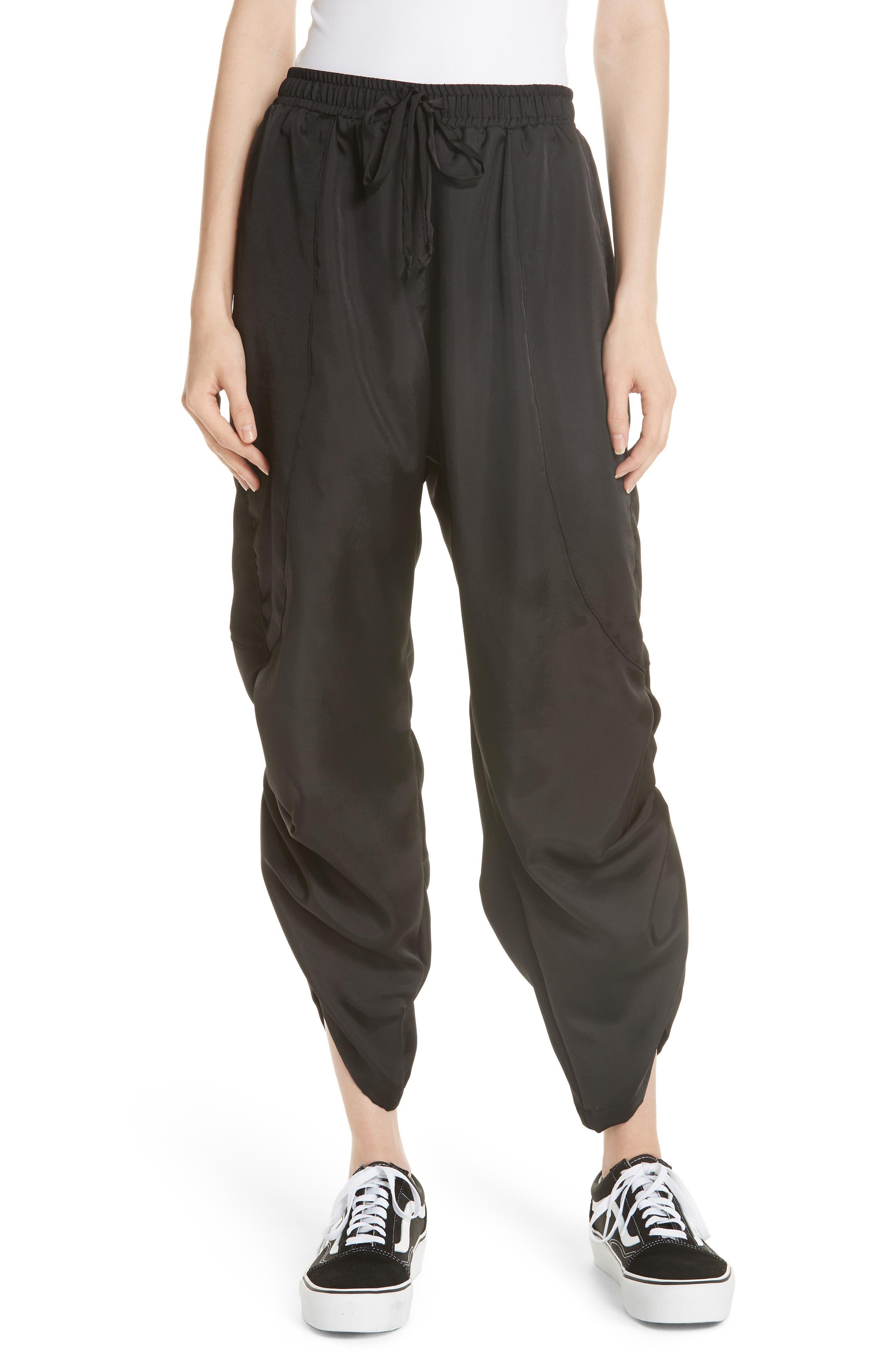 Fold Detail Jogger Pants,                         Main,                         color, BLACK