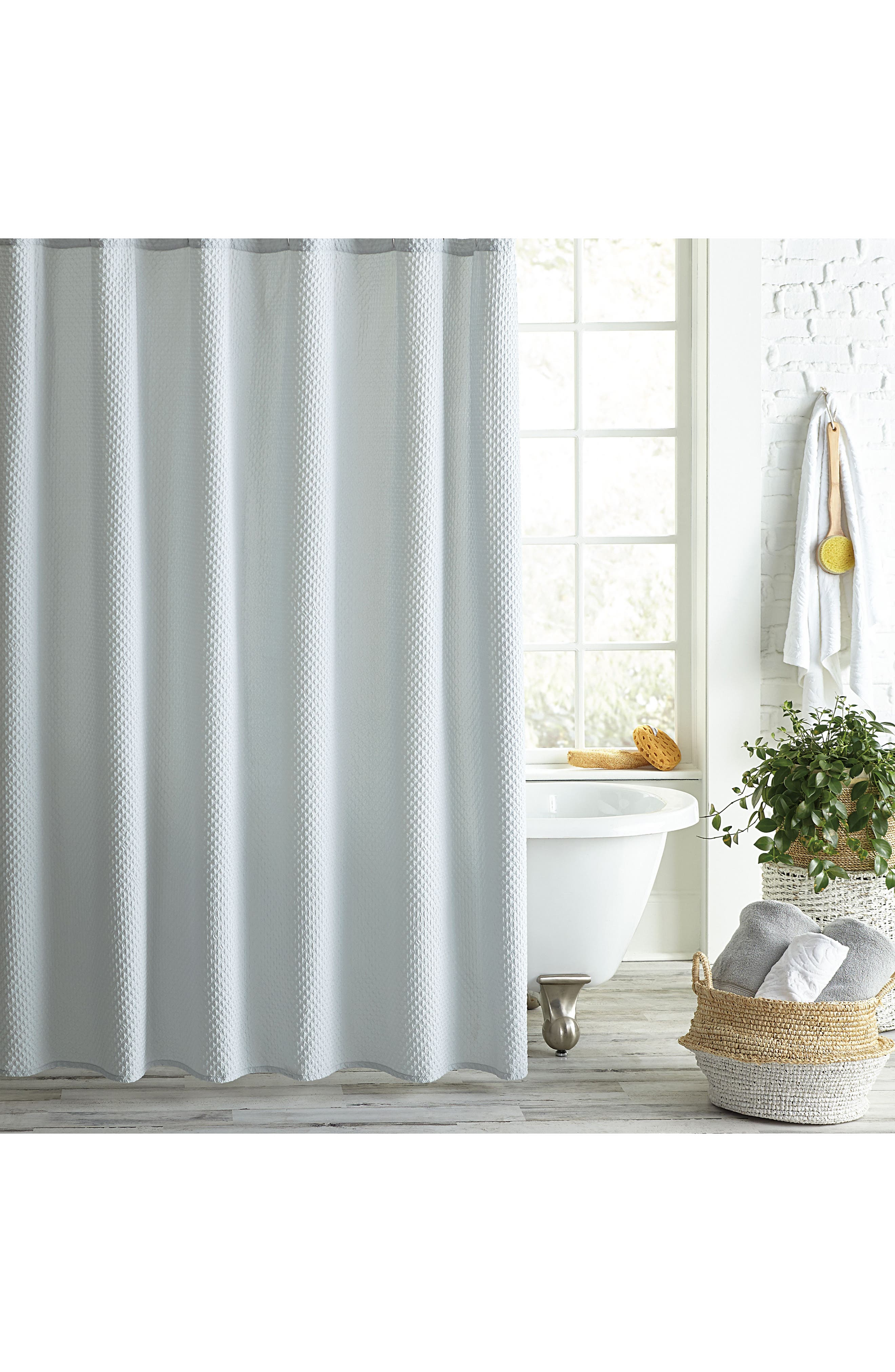 Pebble Microsculpt Shower Curtain, Main, color, GREY