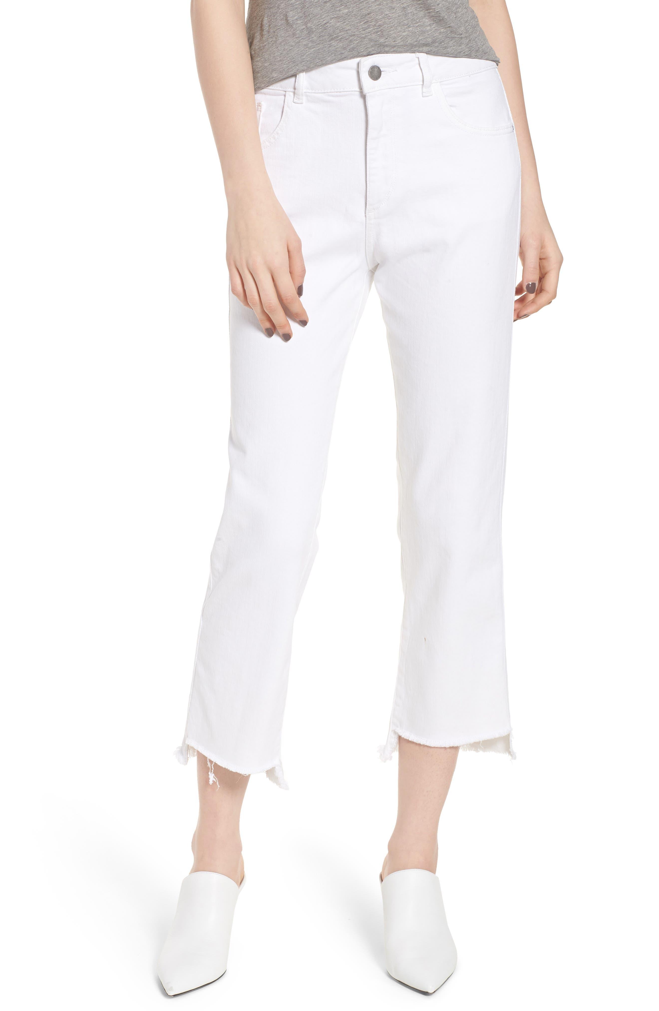 Patti High Waist Crop Straight Leg Jeans,                         Main,                         color,