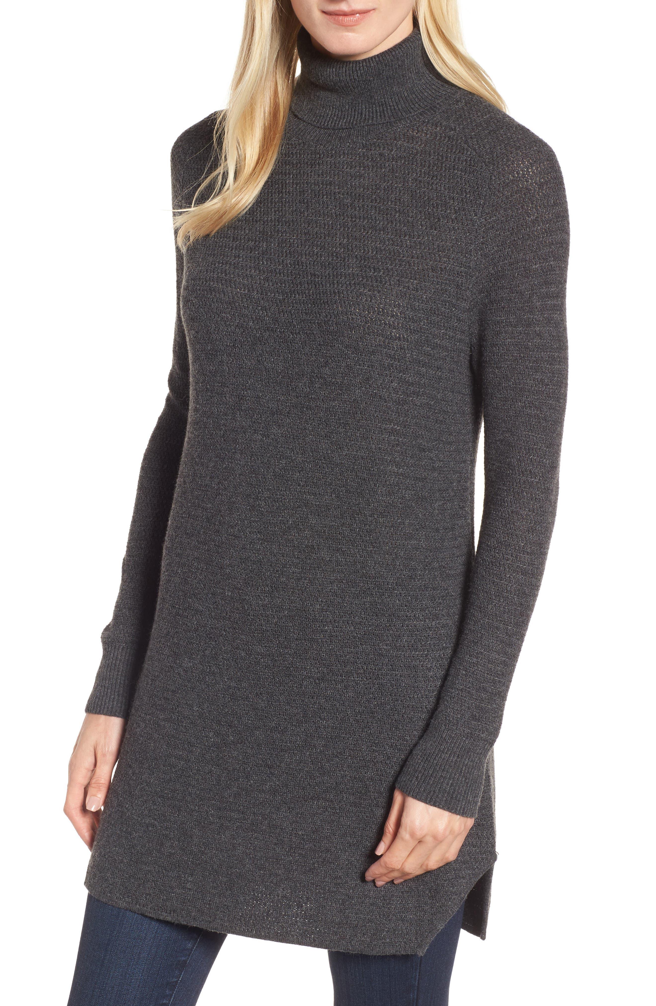 Turtleneck Tunic Sweater,                         Main,                         color, 021