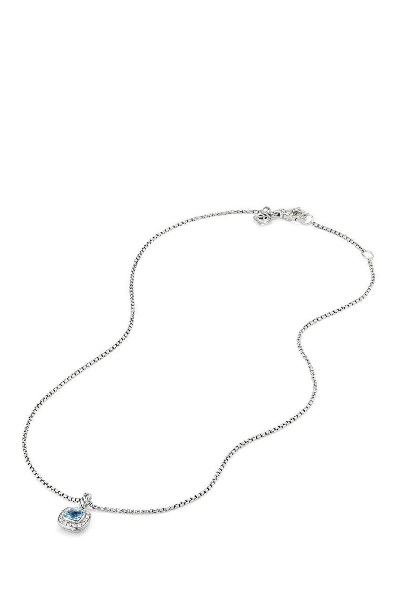 Albion<sup>®</sup> Necklace with Diamonds,                             Alternate thumbnail 3, color,                             BLUE TOPAZ