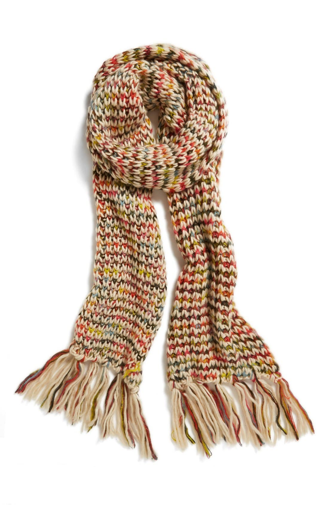 Rainbow Knit Scarf,                             Main thumbnail 1, color,                             600