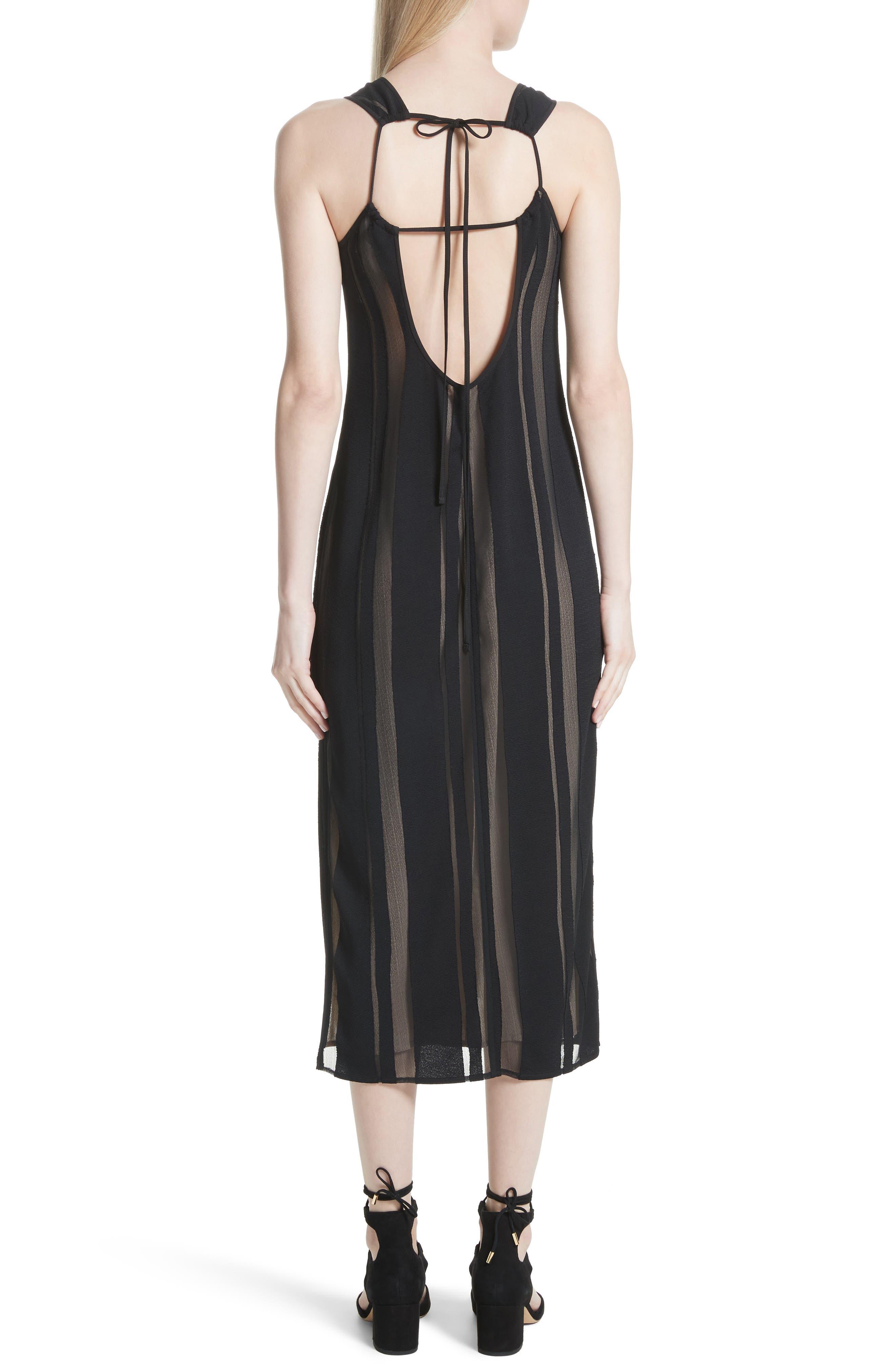 Talla Sheer Stripe Midi Dress,                             Alternate thumbnail 2, color,                             009
