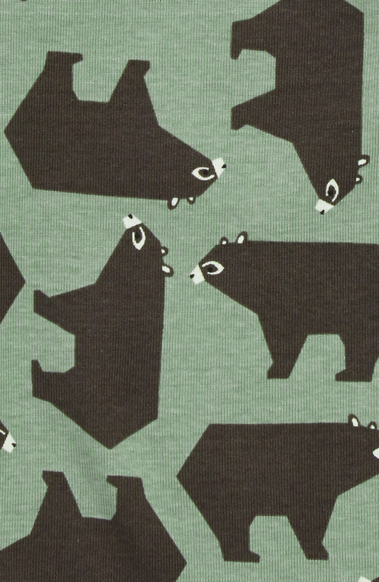 Fitted Two-Piece Pajamas,                             Alternate thumbnail 2, color,                             BROWN BEAR BUNCH
