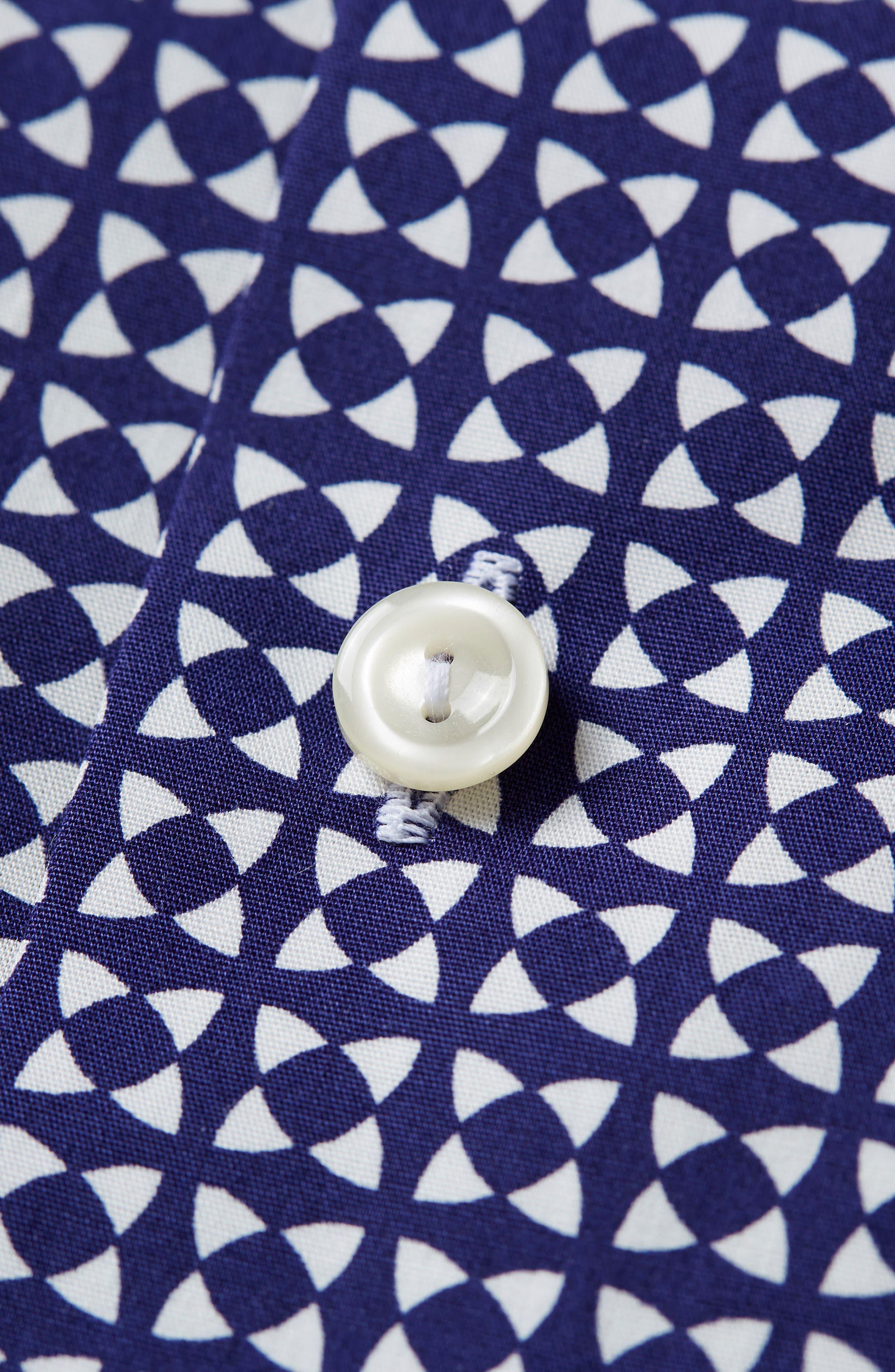 Slim Fit Geometric Dress Shirt,                             Alternate thumbnail 2, color,                             BLUE