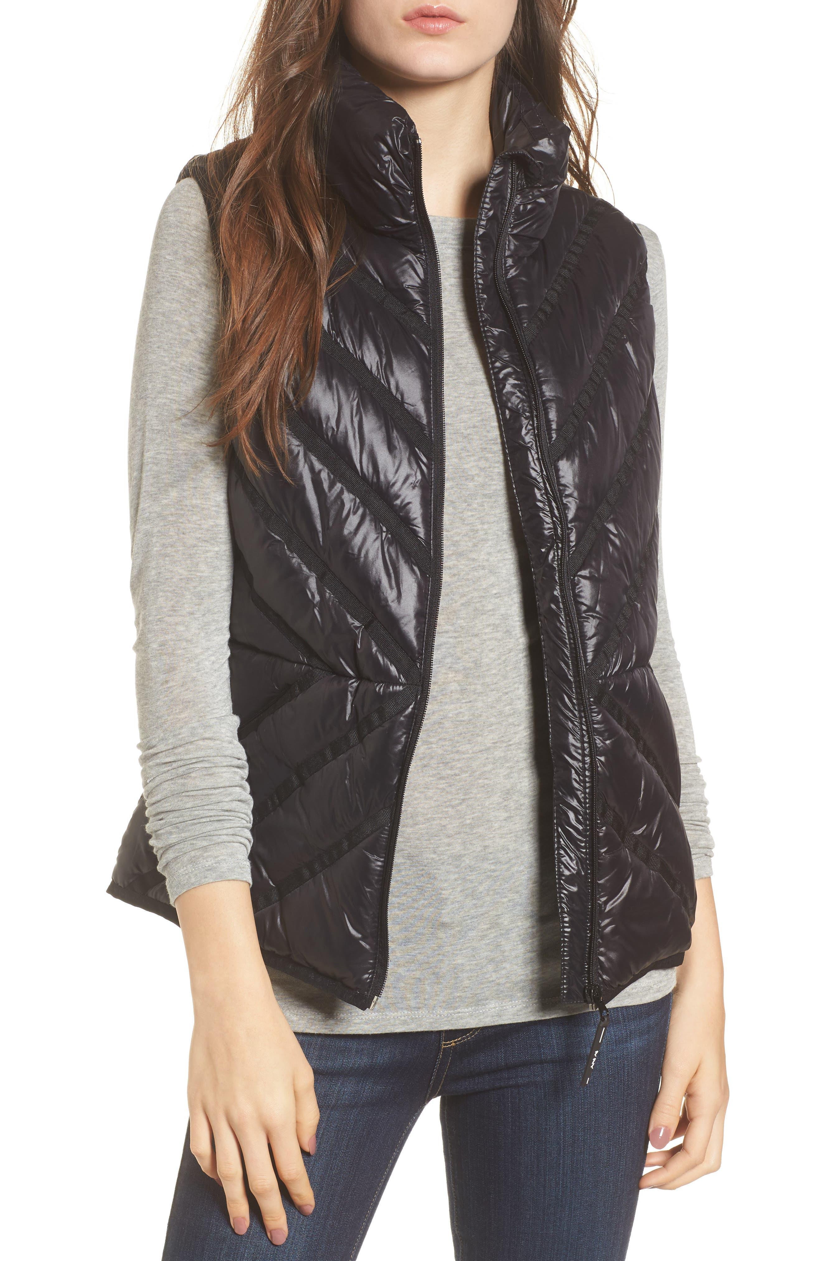 Chevron Quilt Puffer Vest,                             Main thumbnail 1, color,                             001