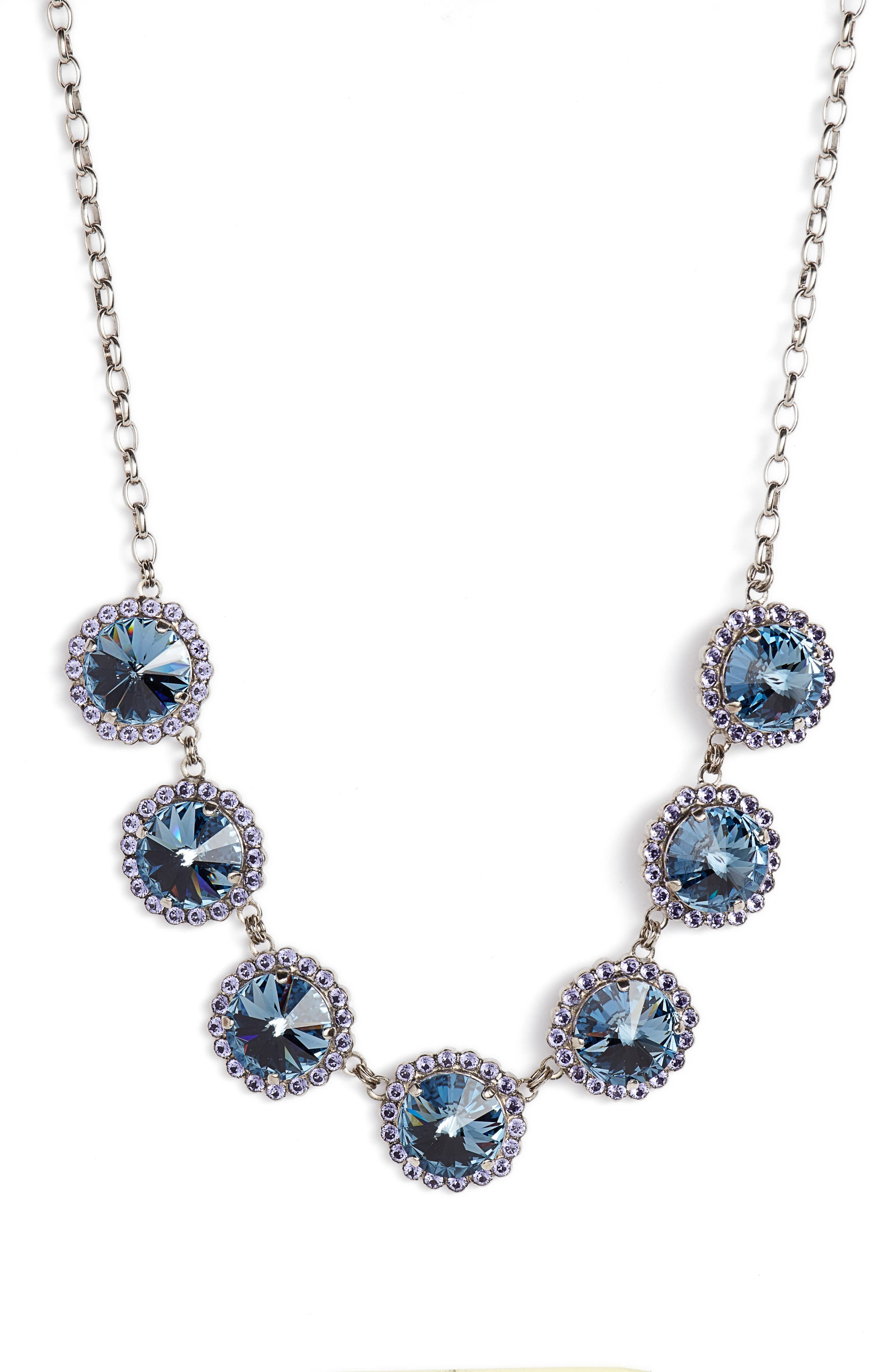 Crystal Necklace,                         Main,                         color, 400