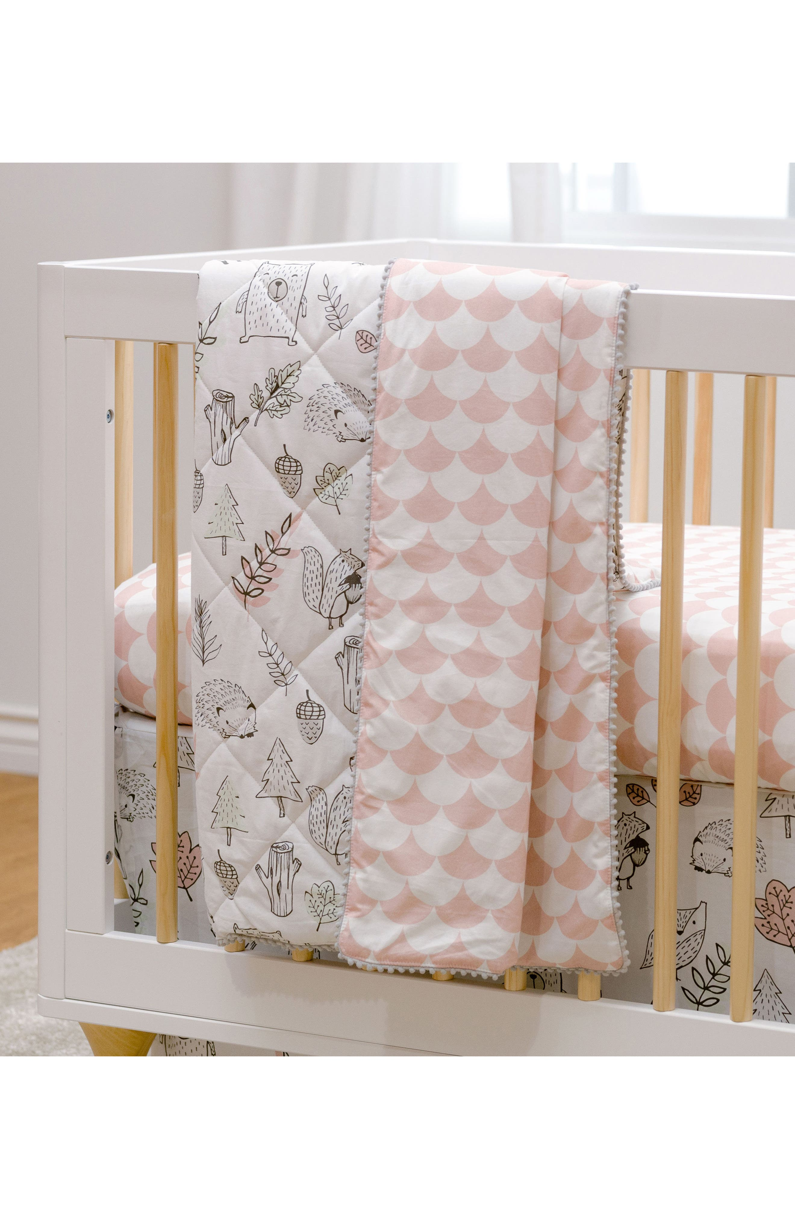 LIVING TEXTILES,                             Woodlands 4-Piece Crib Bedding Set,                             Alternate thumbnail 9, color,                             100