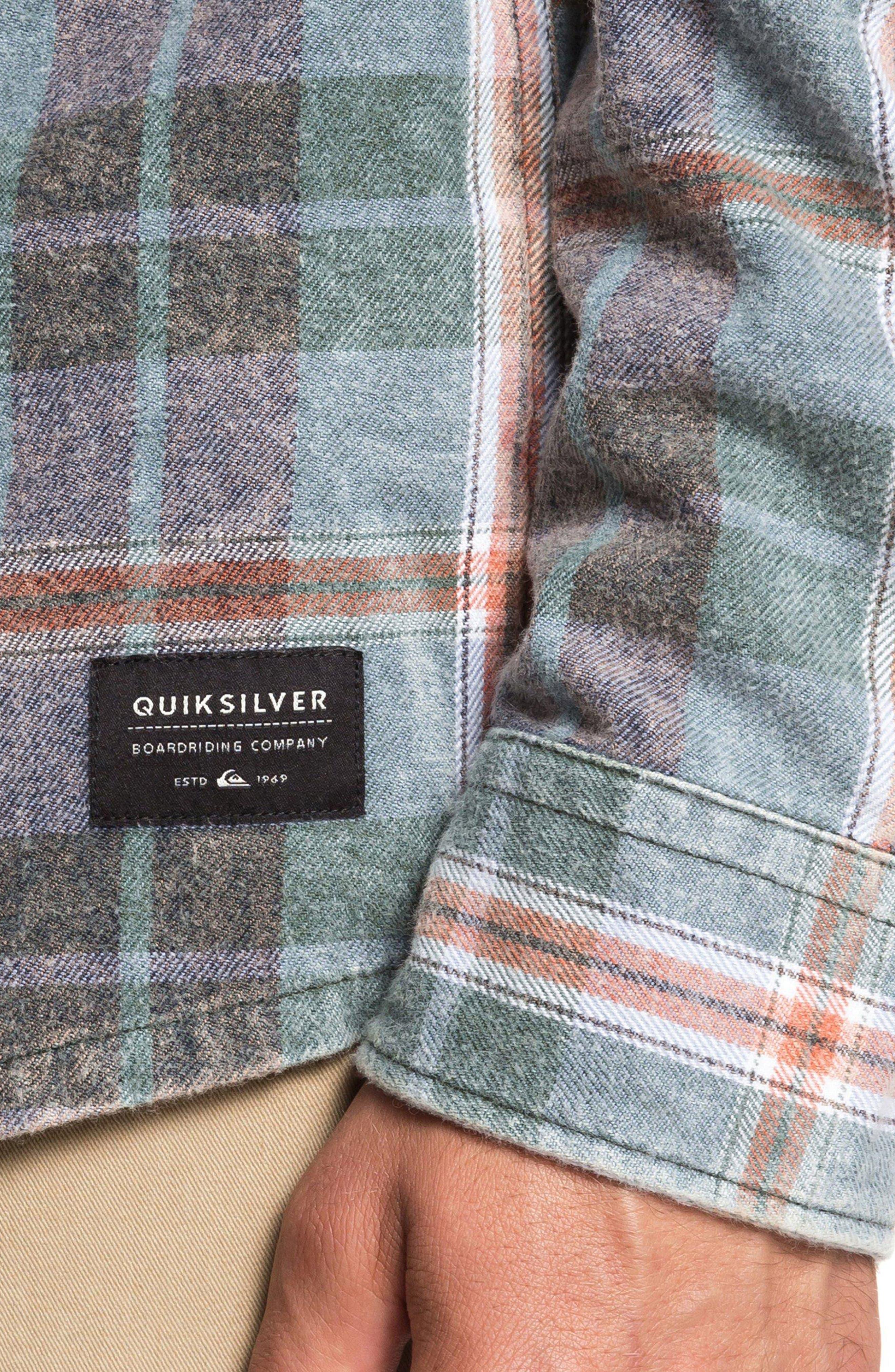 Super Tang Flannel Shirt,                             Alternate thumbnail 5, color,                             STONE WASH TANG
