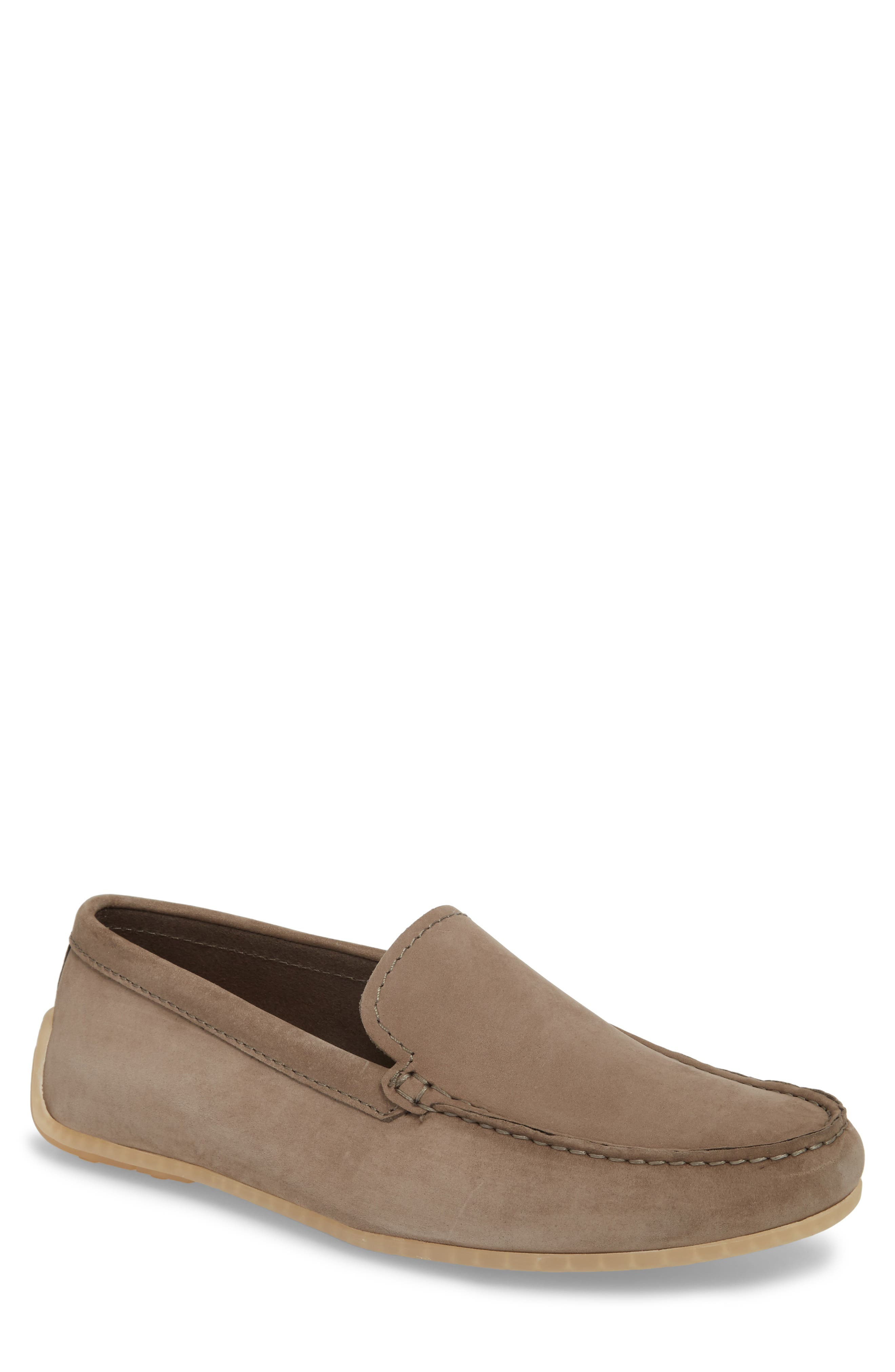 Clarks<sup>®</sup> Reazor Edge Driving Moccasin,                             Main thumbnail 1, color,                             SAGE NUBUCK
