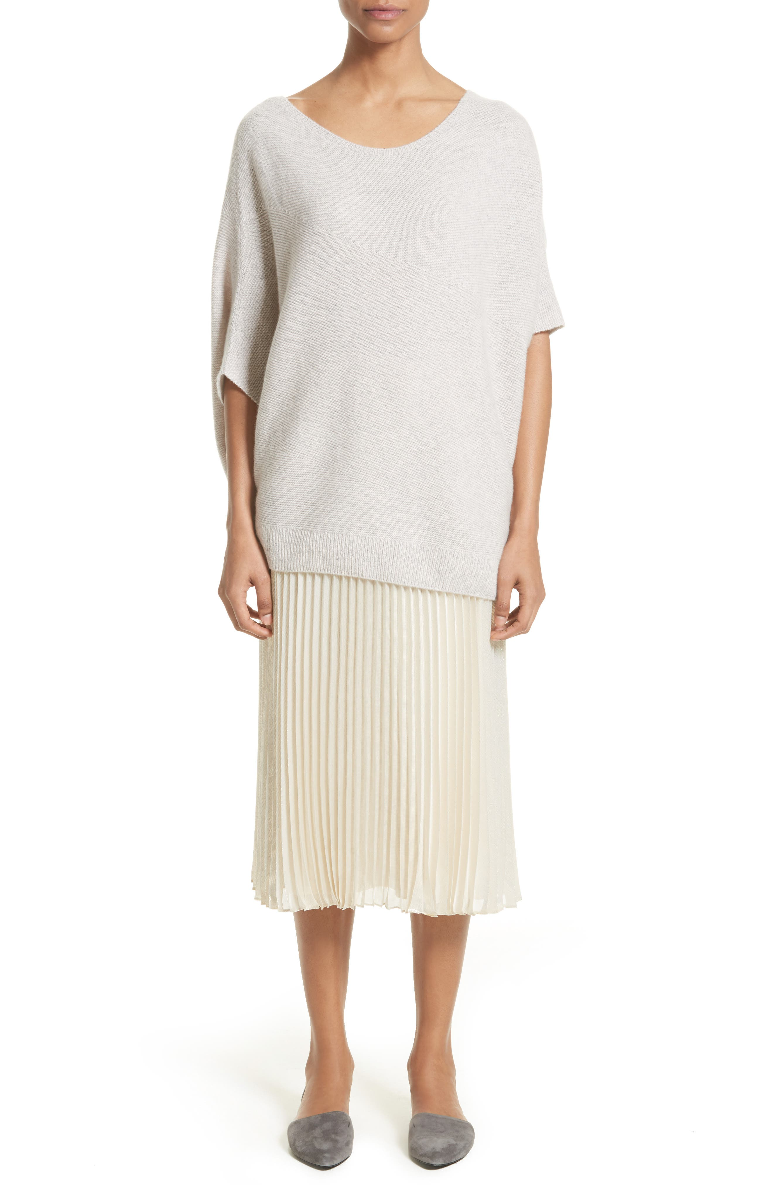 Cashmere Asymmetrical Sweater,                             Alternate thumbnail 6, color,                             680