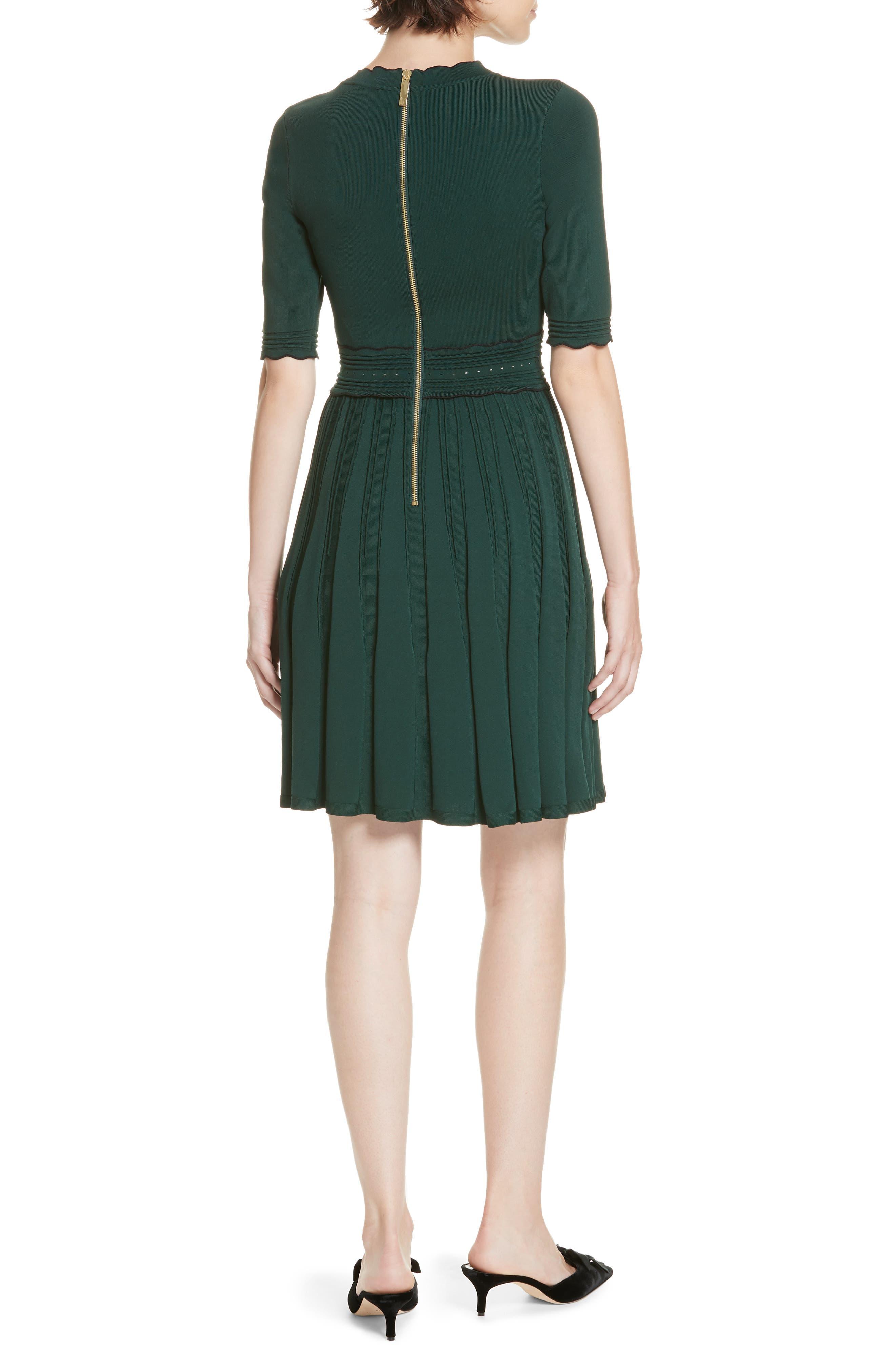 Dorlean Knit Dress,                             Alternate thumbnail 2, color,                             DARK GREEN