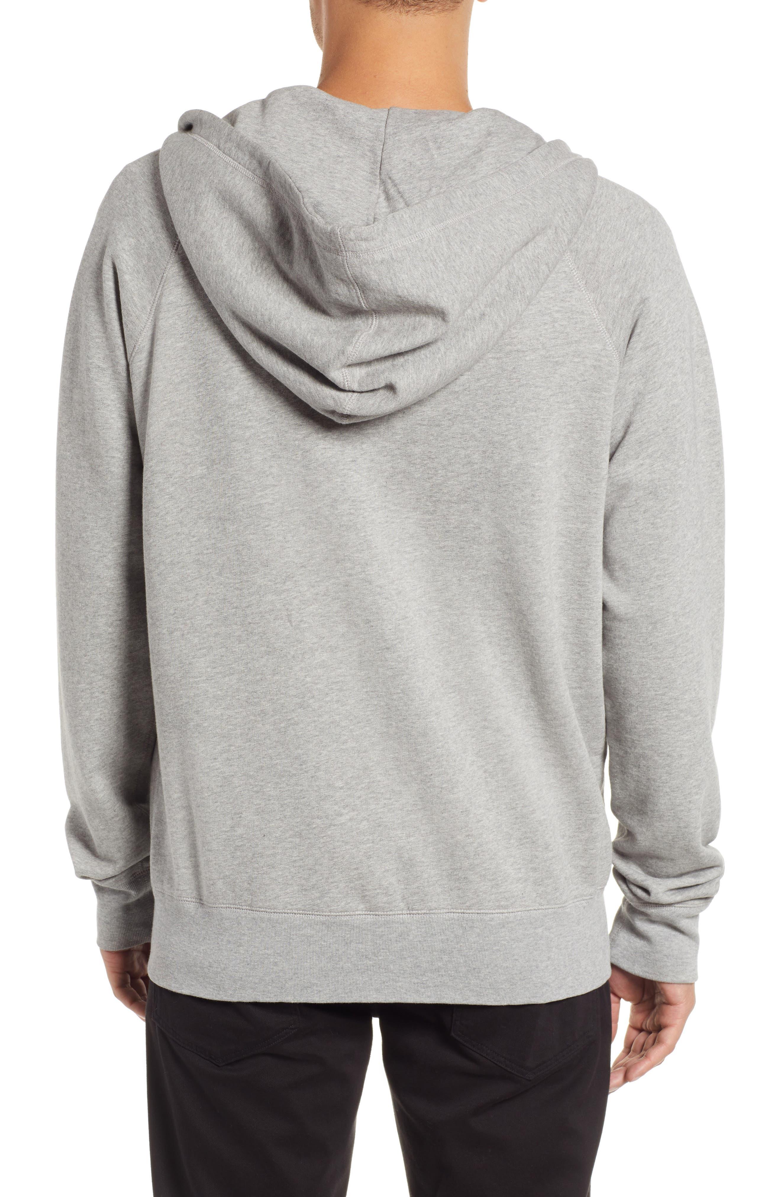 Pause Hooded Zip Sweatshirt,                             Alternate thumbnail 2, color,                             GREY MELANGE