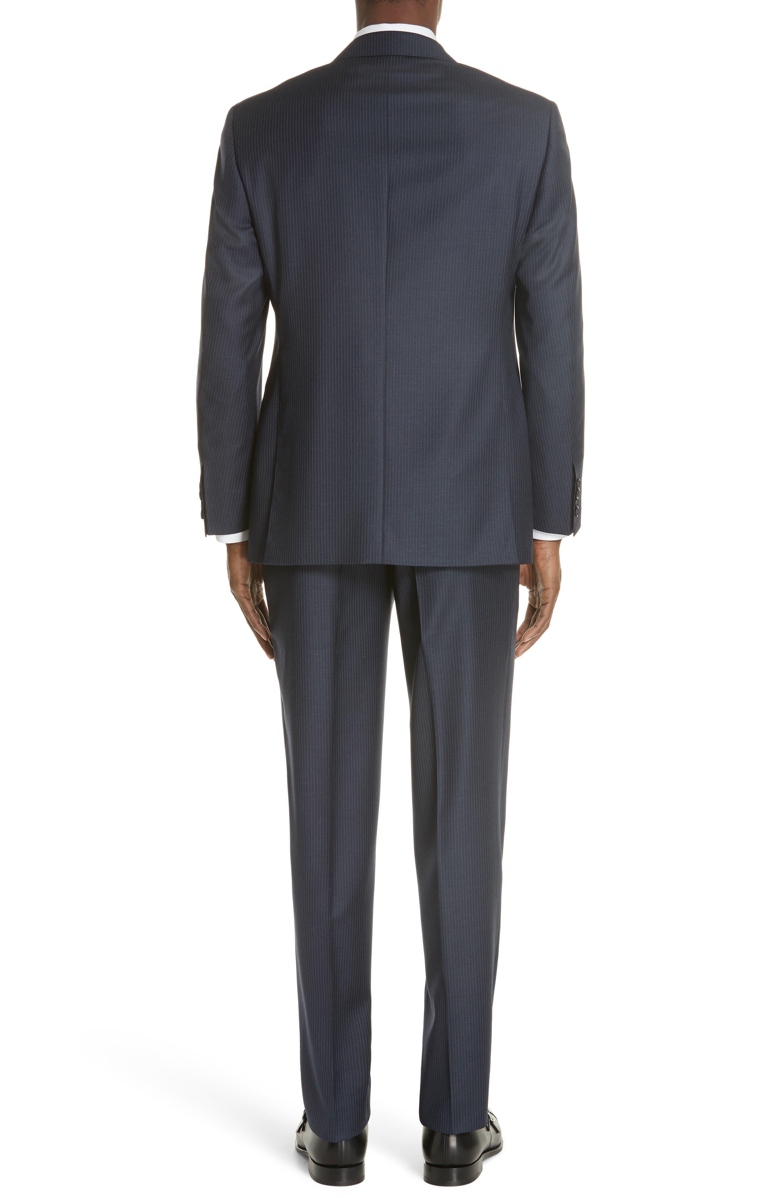 Classic Fit Pinstripe Wool Suit,                             Alternate thumbnail 2, color,                             410