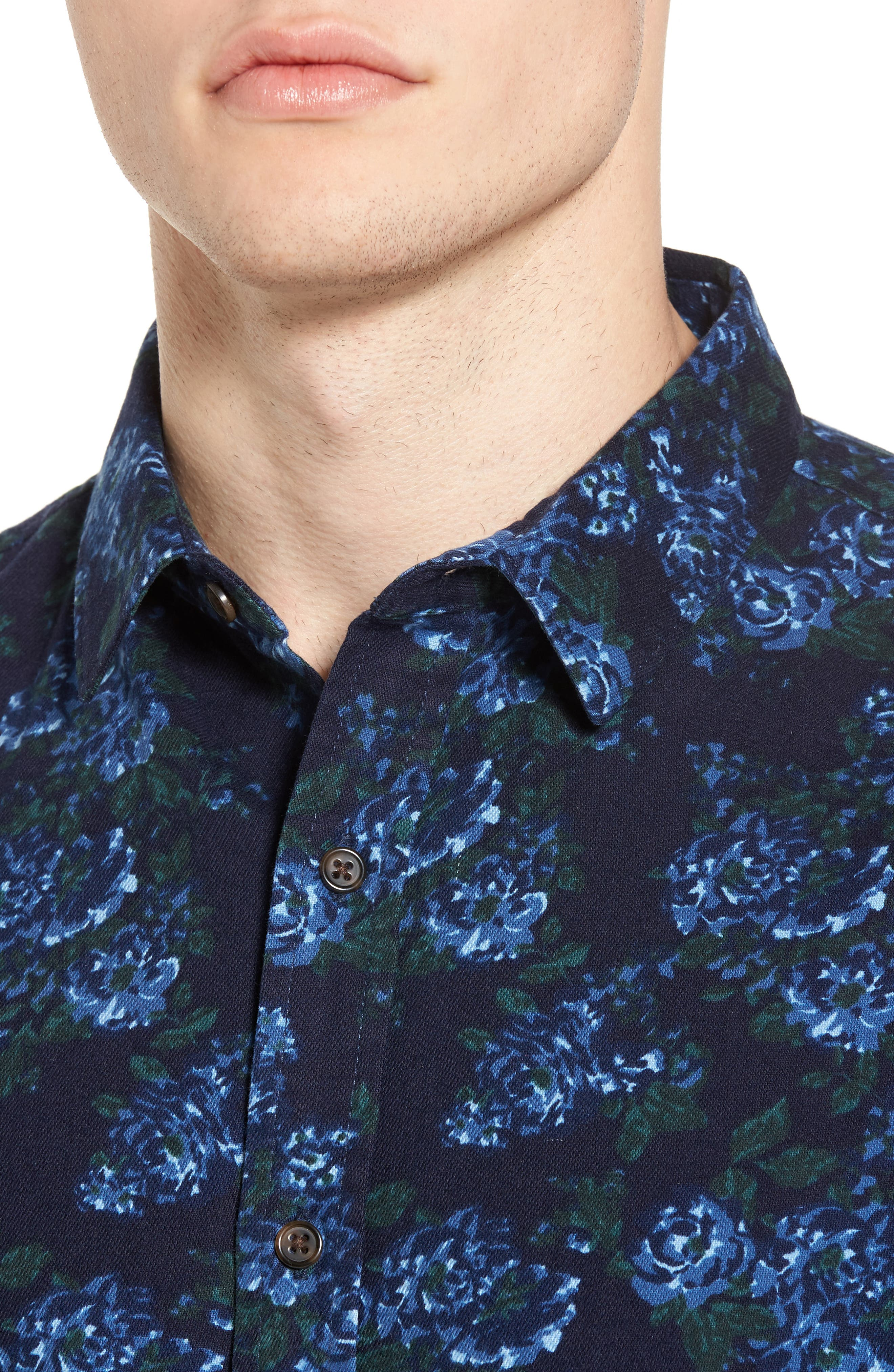 Print Flannel Shirt,                             Alternate thumbnail 12, color,