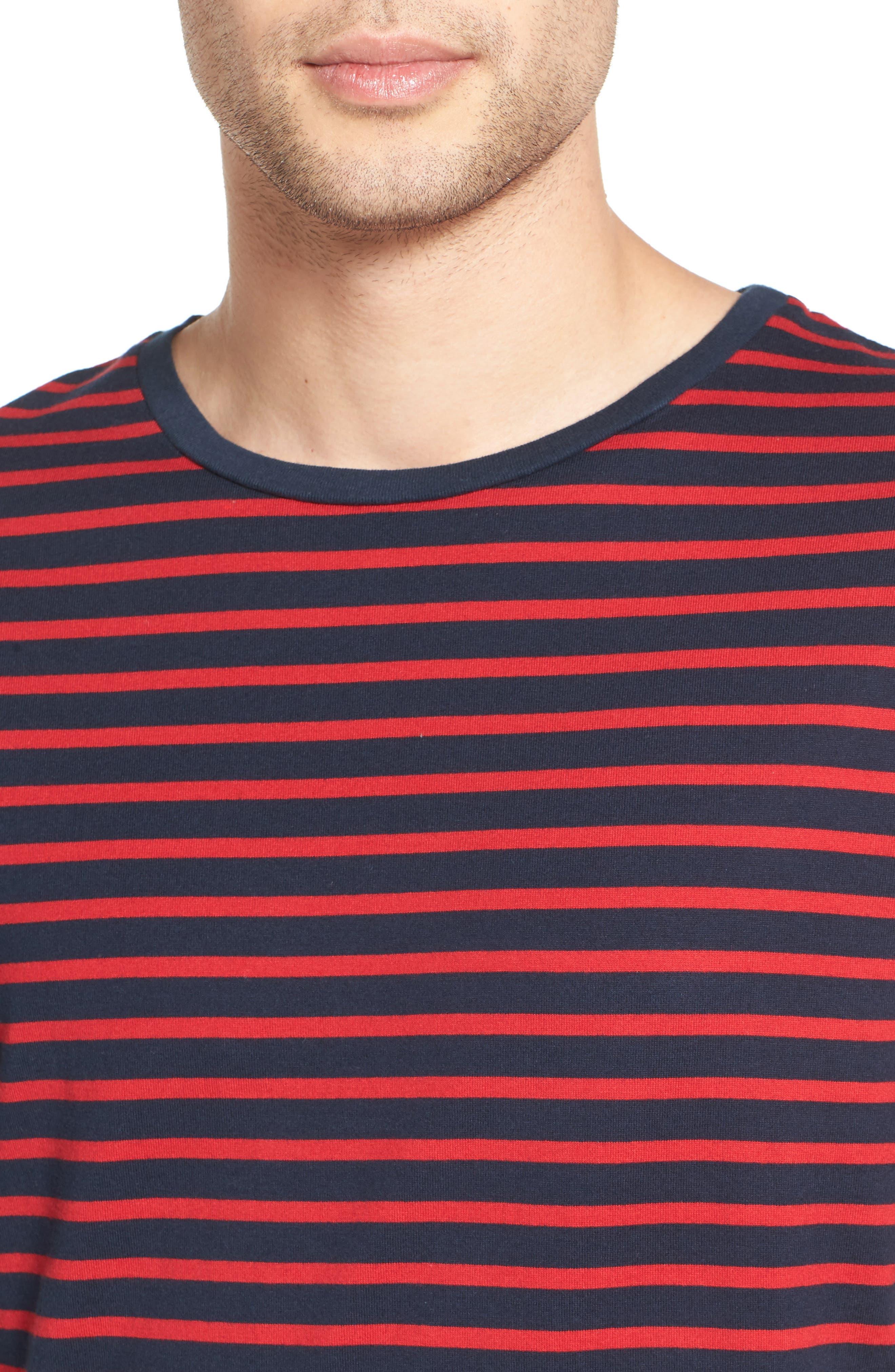 Julian Stripe Crewneck T-Shirt,                             Alternate thumbnail 8, color,