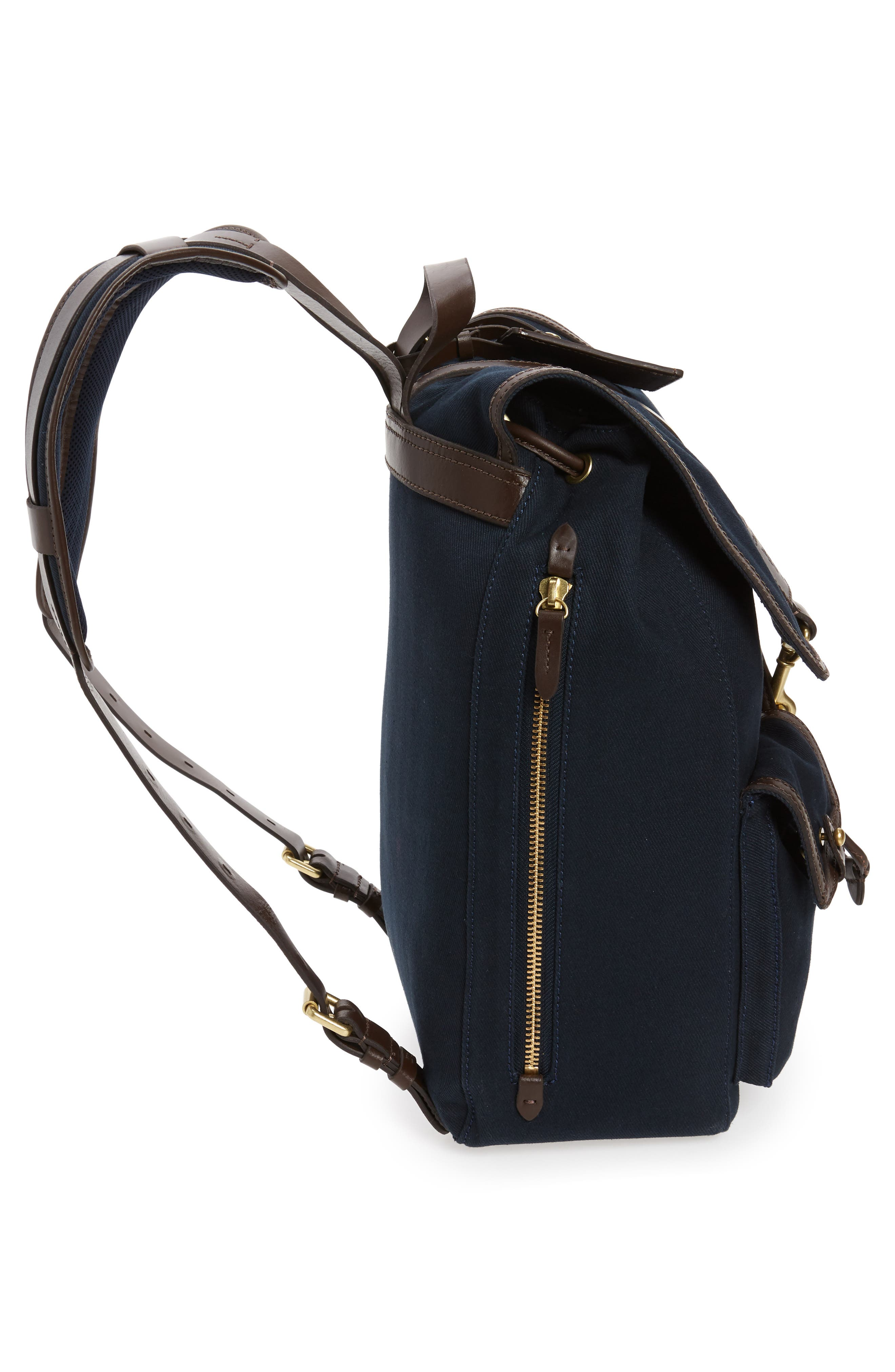 Canvas Backpack,                             Alternate thumbnail 5, color,                             NAVY