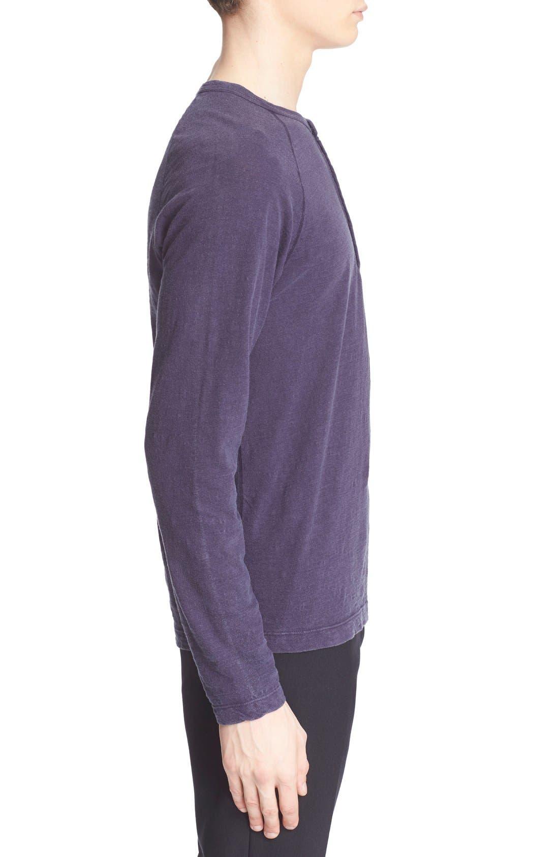 Long Sleeve Cotton Jersey Henley,                             Alternate thumbnail 8, color,