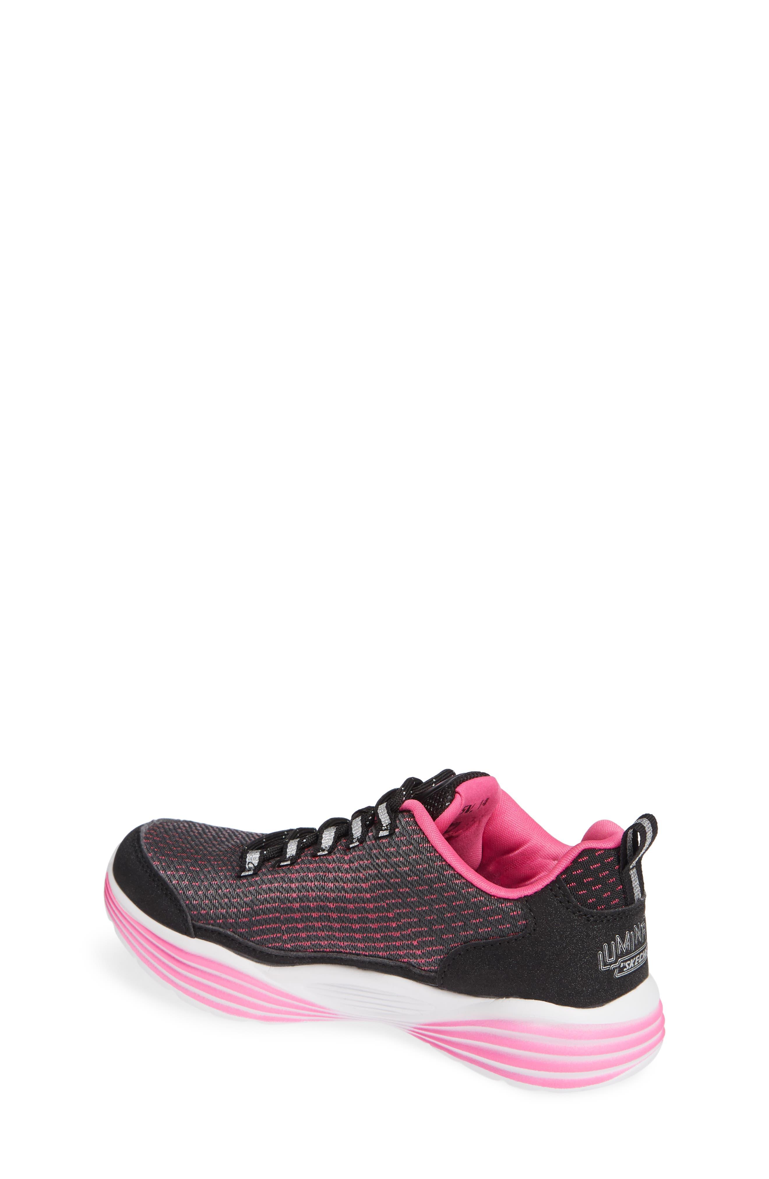 Luminator Light Up Sneaker,                             Alternate thumbnail 2, color,                             BLACK/ PINK
