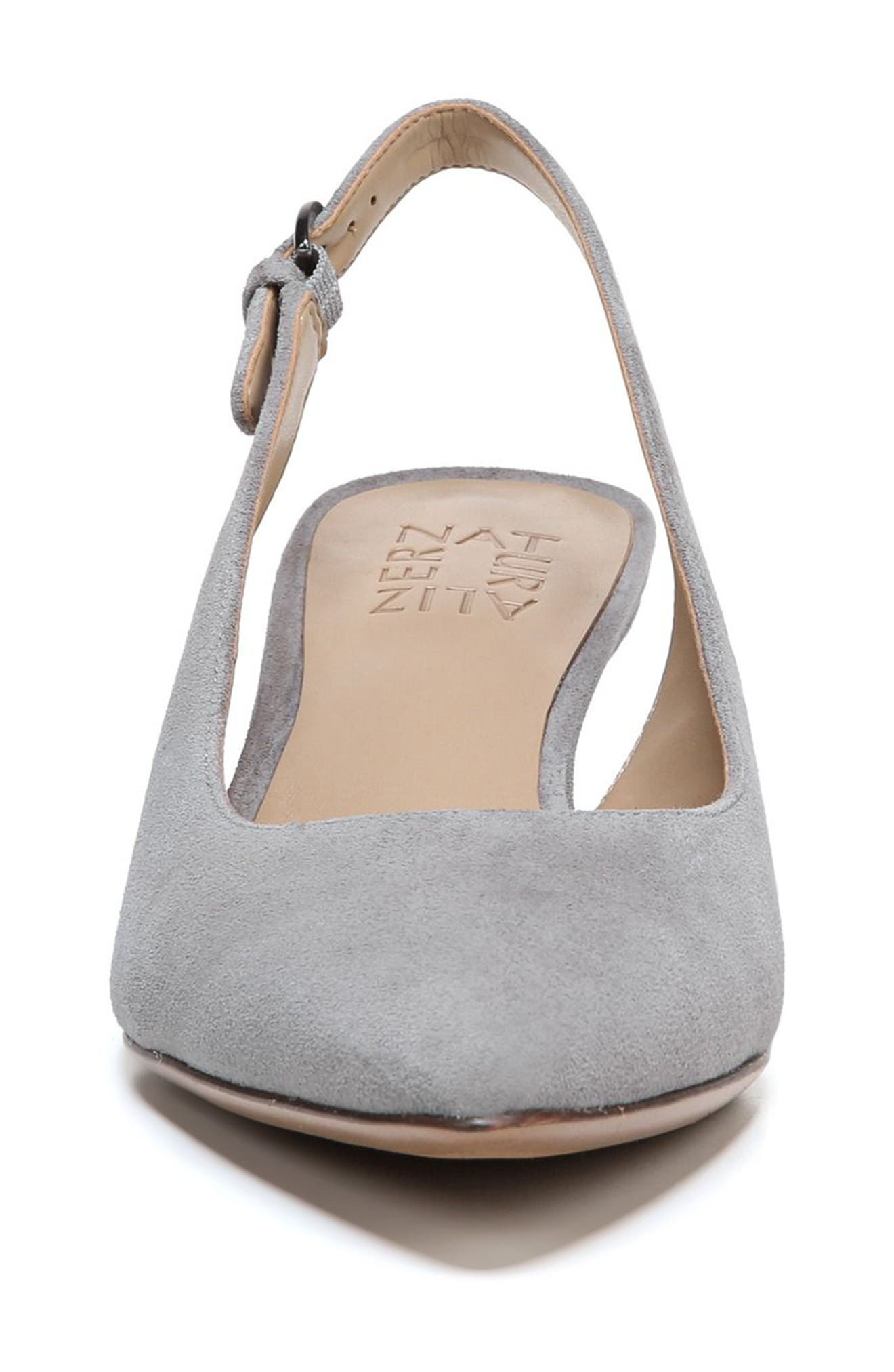 Slingback Pump,                             Alternate thumbnail 4, color,                             GREY SUEDE