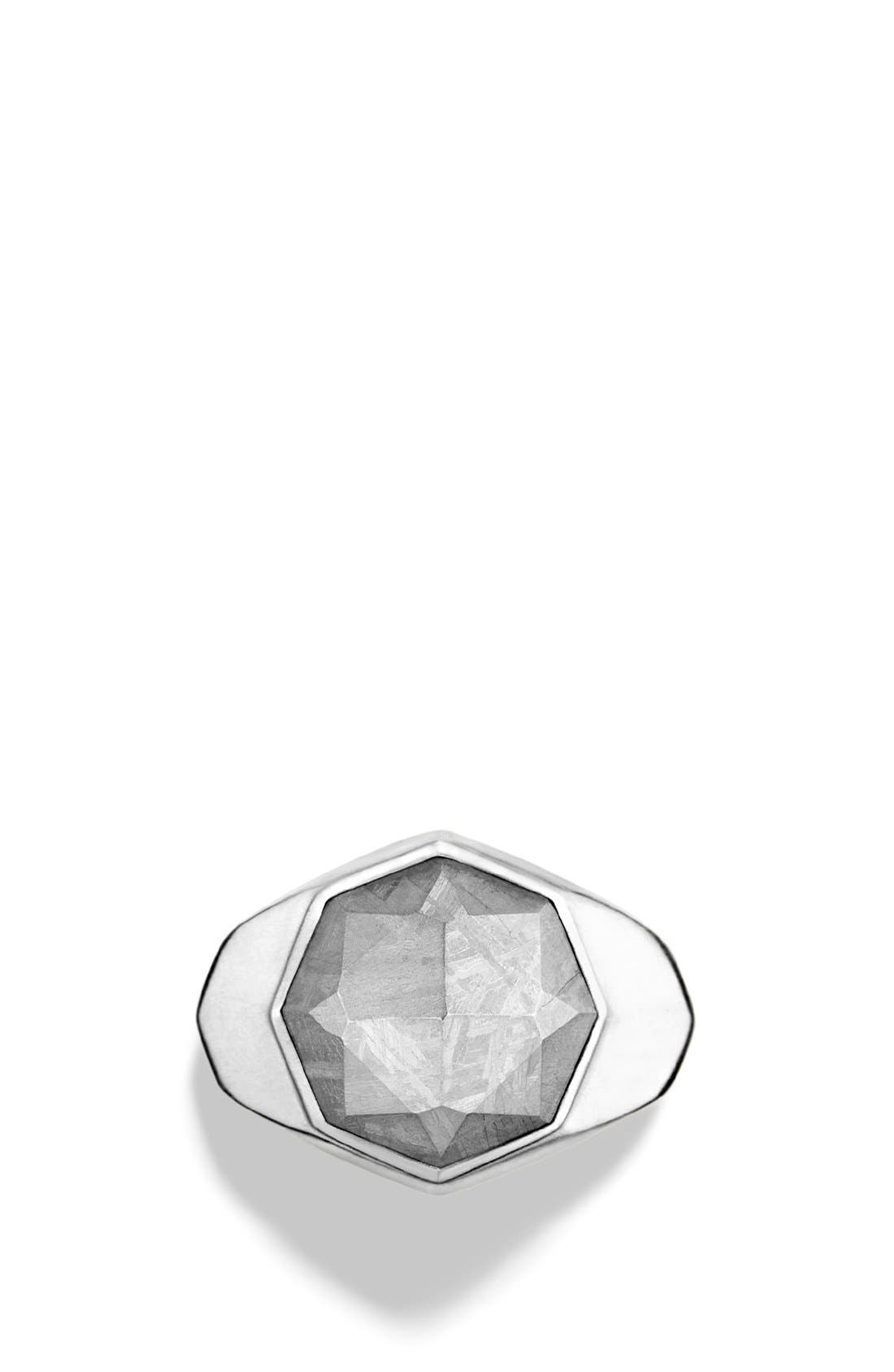 'Meteorite' Signet Ring,                             Alternate thumbnail 4, color,                             METEORITE