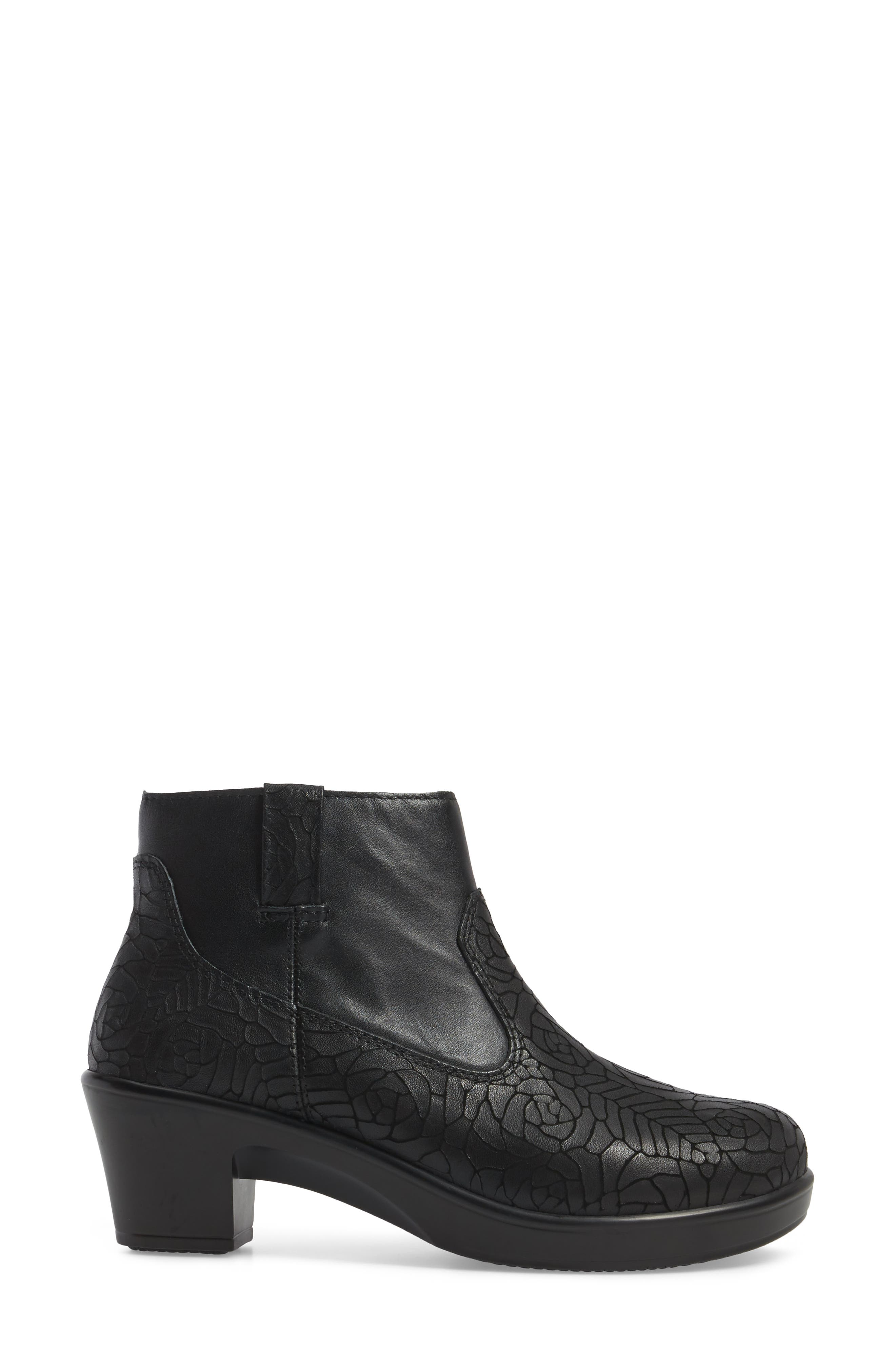 Hayden Bootie,                             Alternate thumbnail 3, color,                             FLORAL NOTES LEATHER