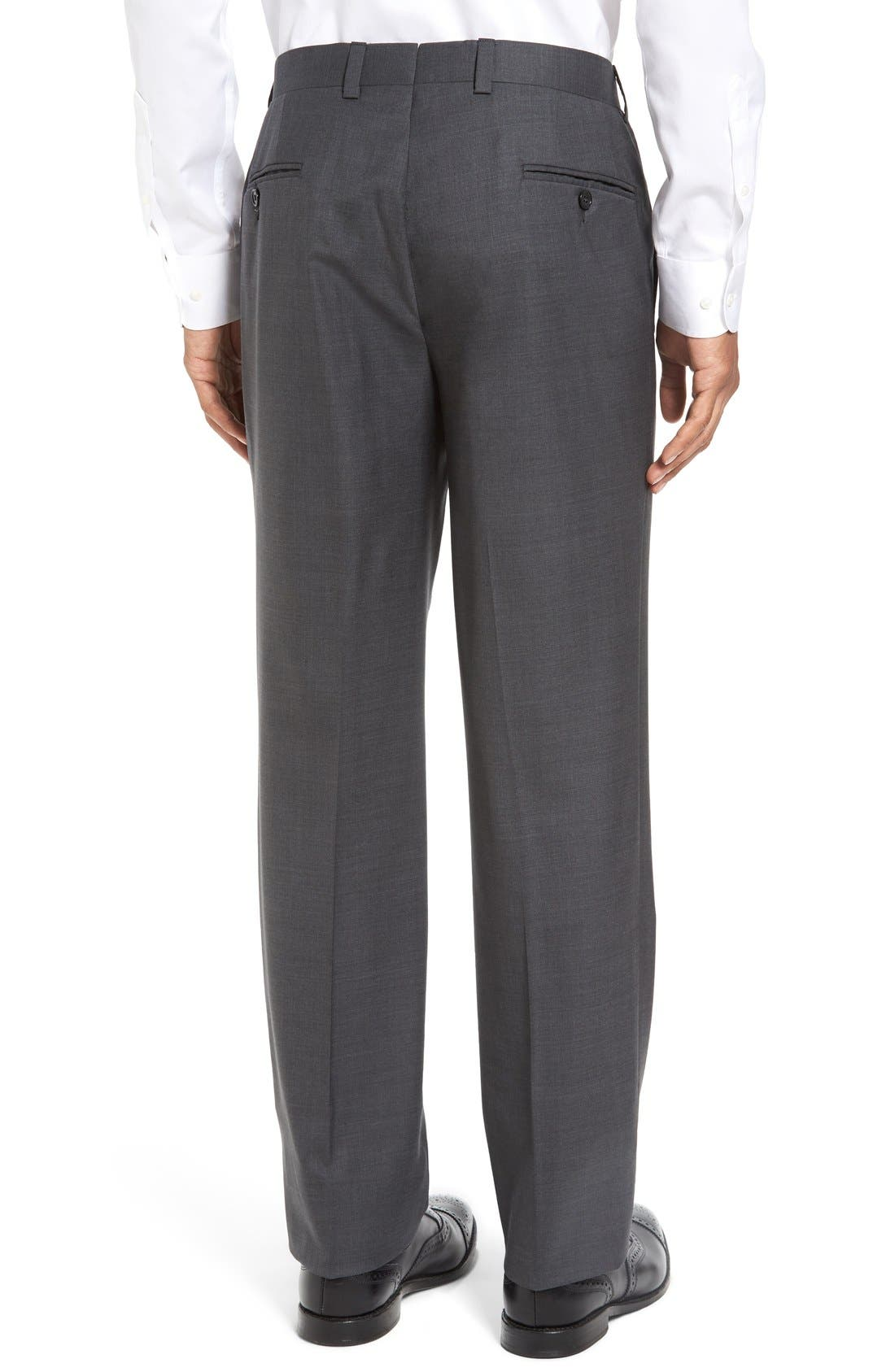 Ryan Regular Fit Wool Trousers,                             Alternate thumbnail 2, color,                             CHARCOAL