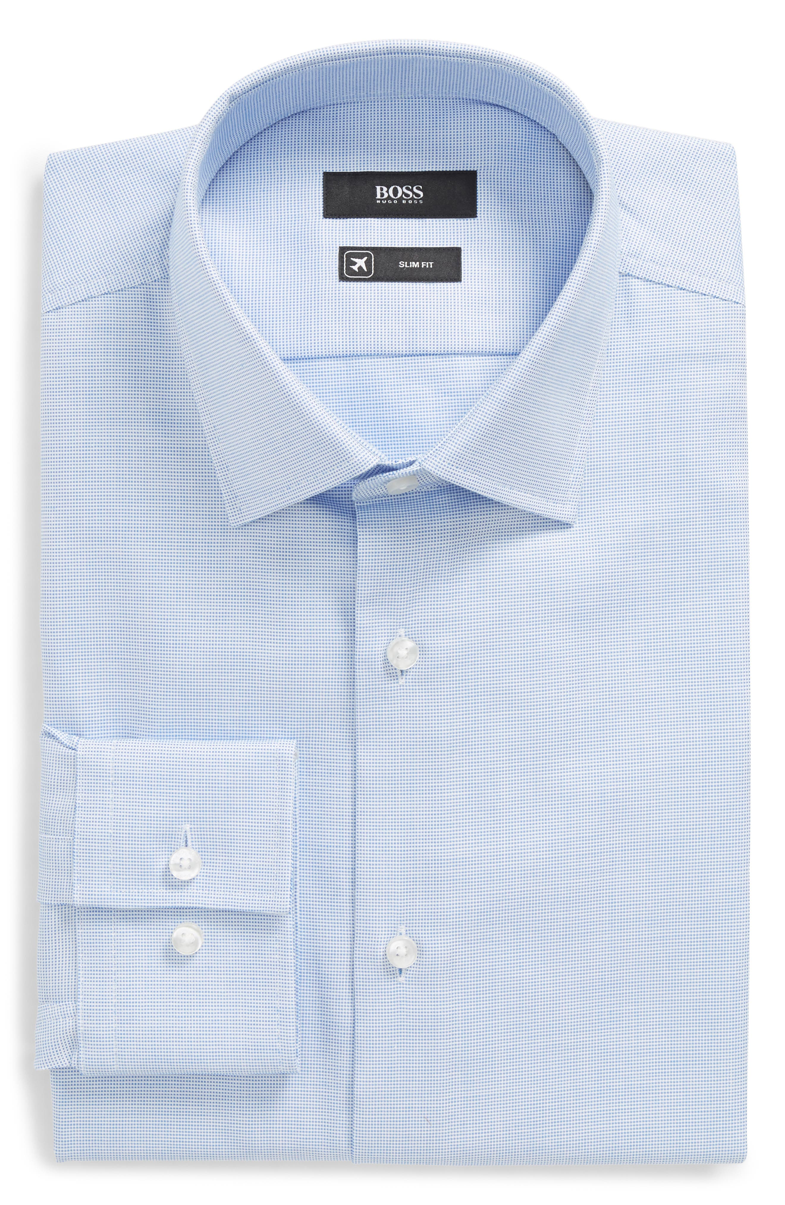 Jenno Slim Fit Solid Dress Shirt,                             Main thumbnail 1, color,                             433
