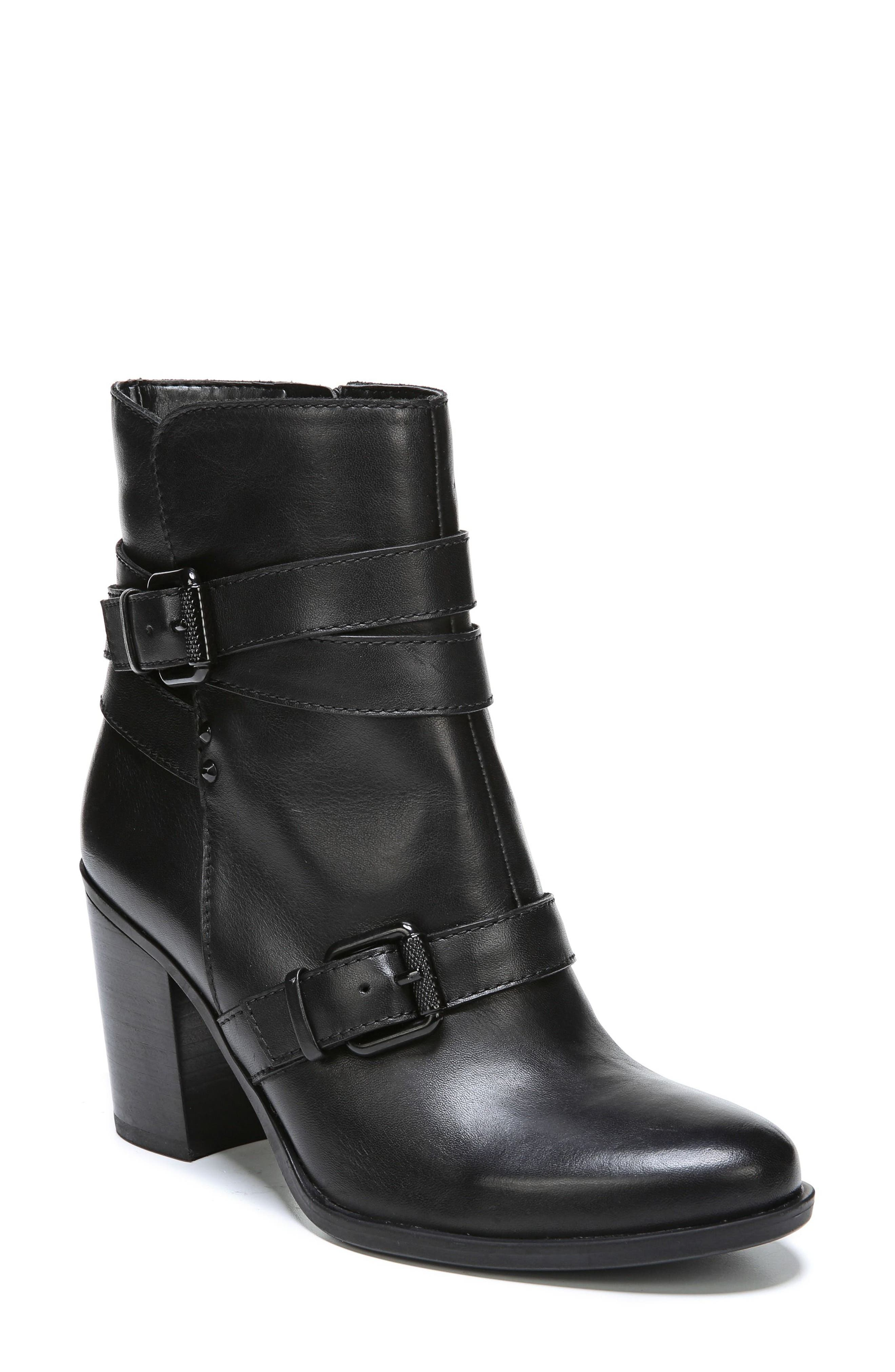 Karlie Buckle Bootie,                             Main thumbnail 1, color,                             001