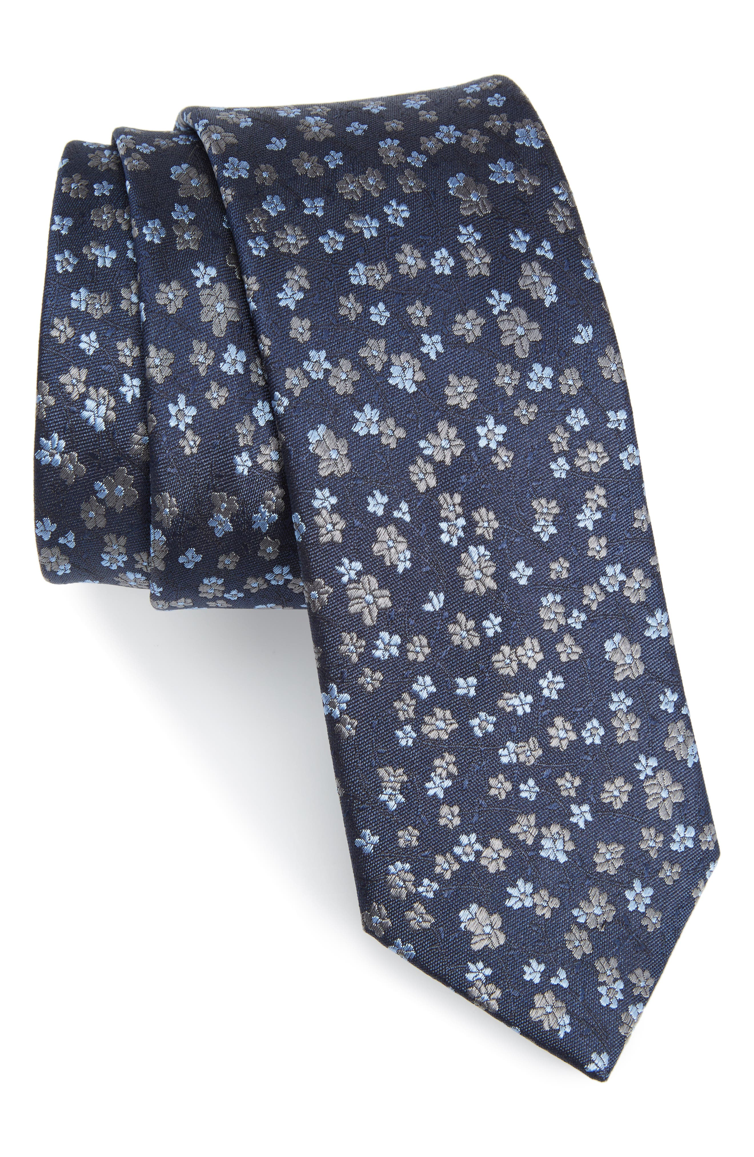 Freefall Floral Silk Tie,                             Main thumbnail 3, color,