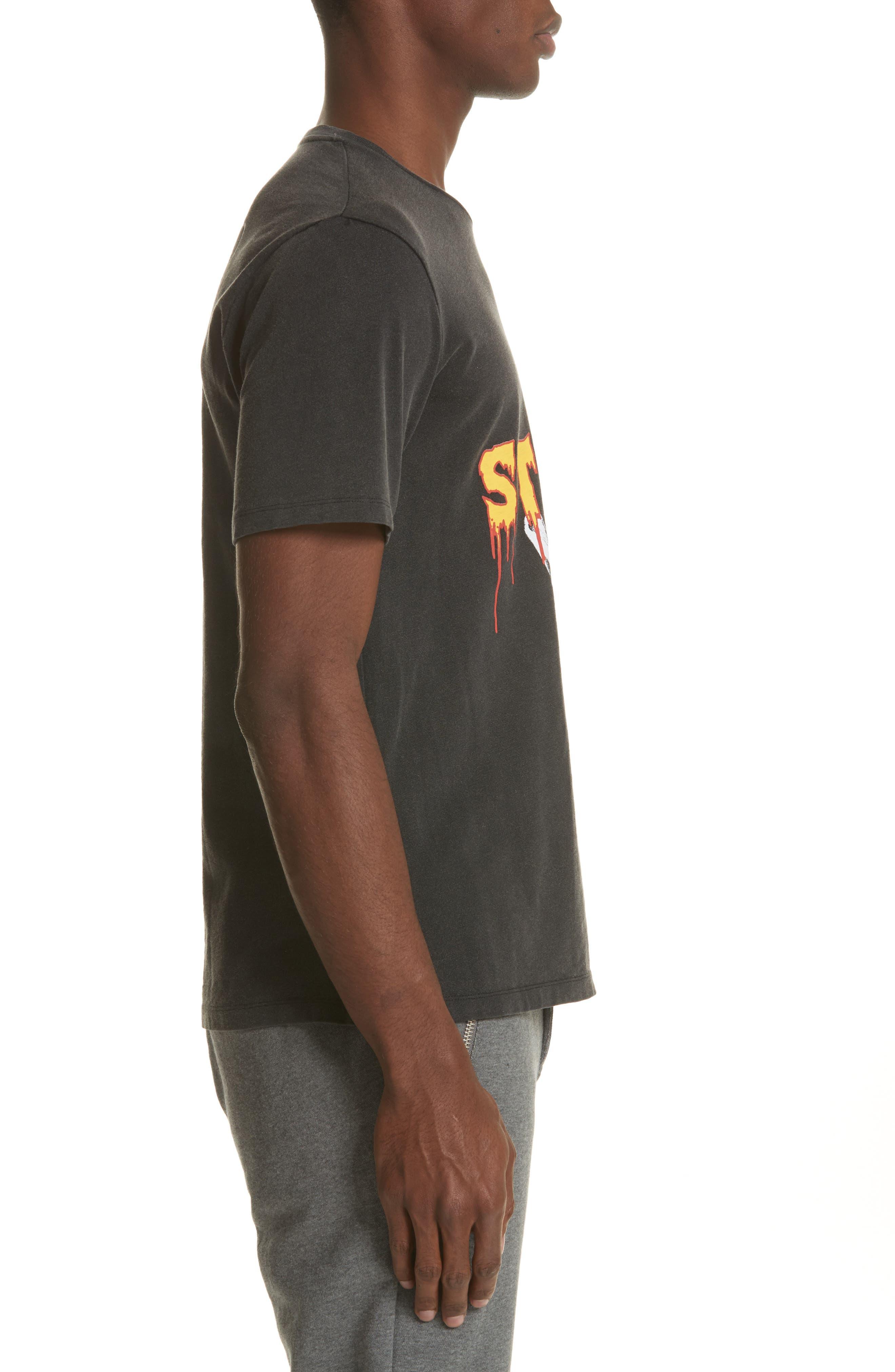 Skeleton Hand Graphic T-Shirt,                             Alternate thumbnail 3, color,                             001